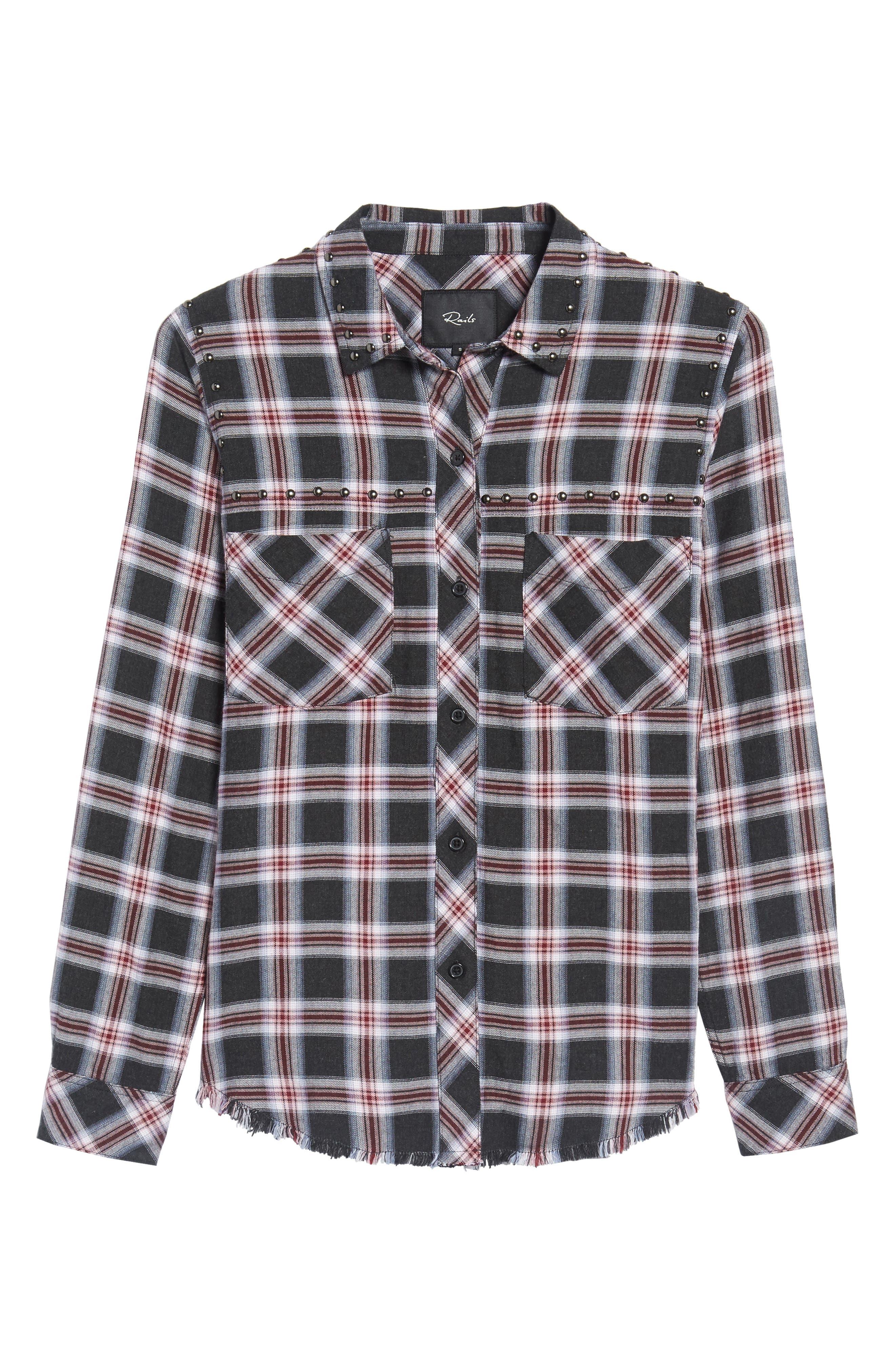Alternate Image 6  - Rails Rex Studded Plaid Shirt