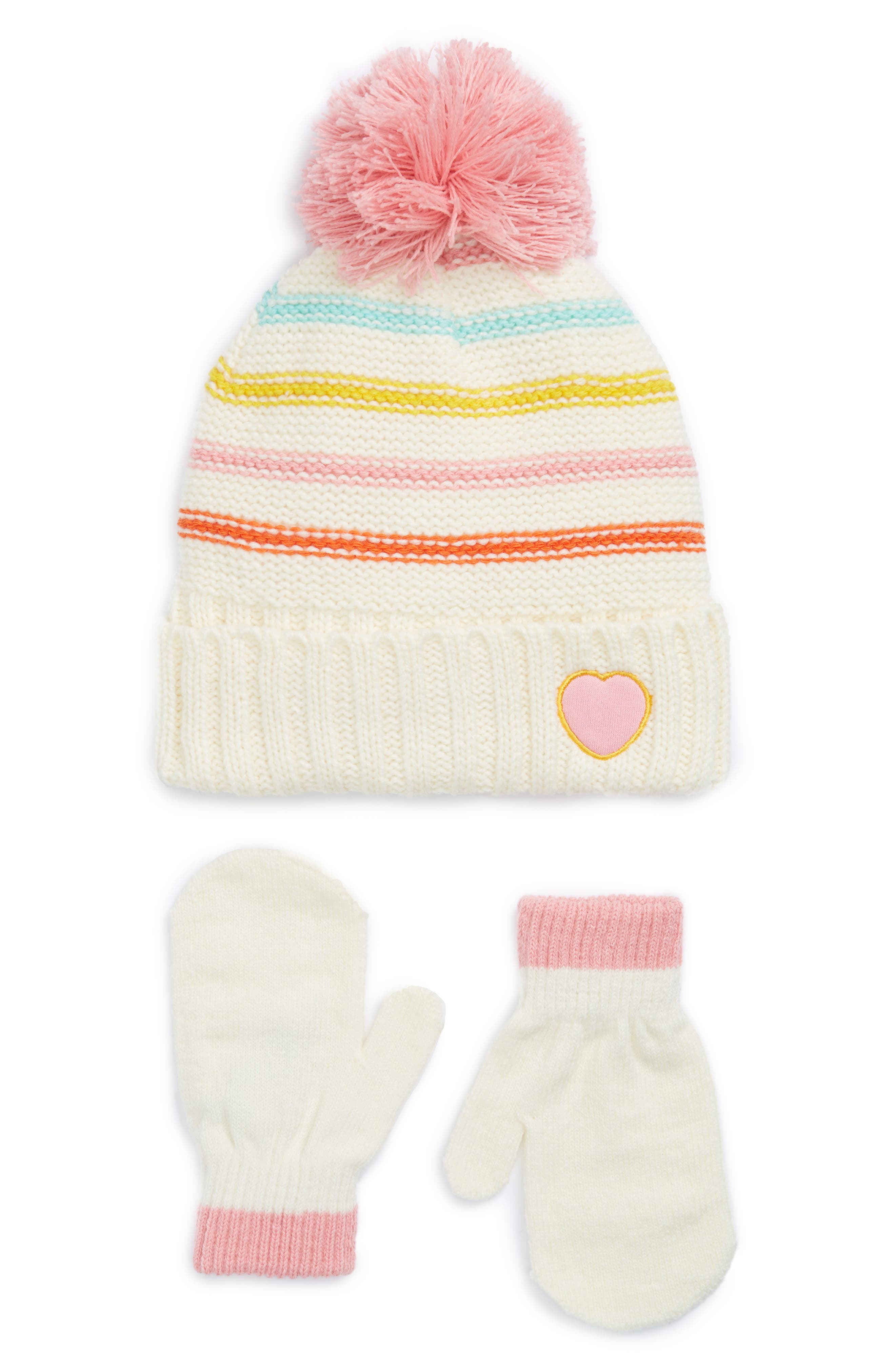 Alternate Image 1 Selected - Nolan Glove Beanie & Mittens (Toddler)