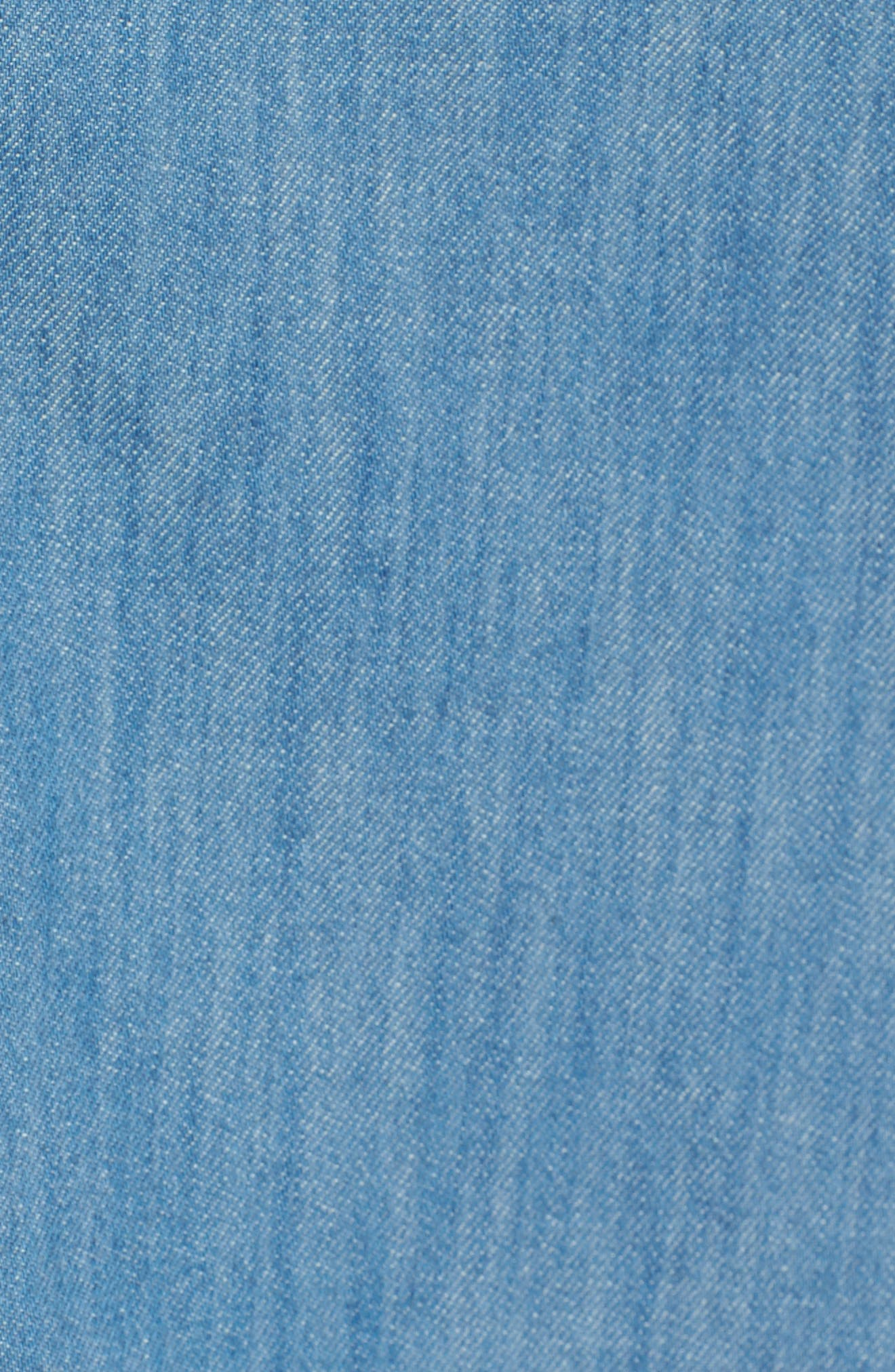 Asymmetric Ruffle Shift Dress,                             Alternate thumbnail 5, color,                             Making Waves