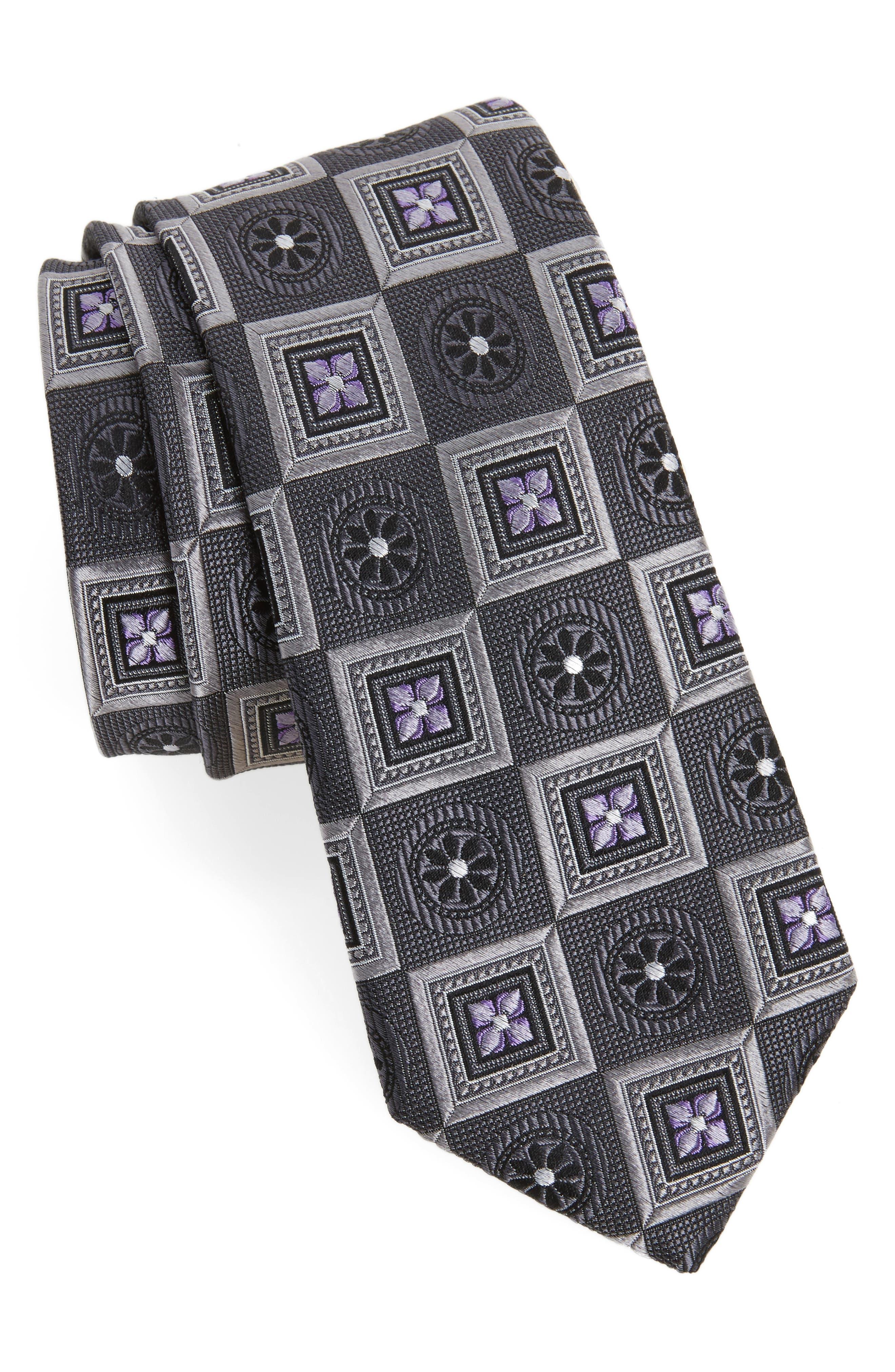 Alternate Image 1 Selected - Nordstrom Men's Shop Medallion Squares Silk Tie
