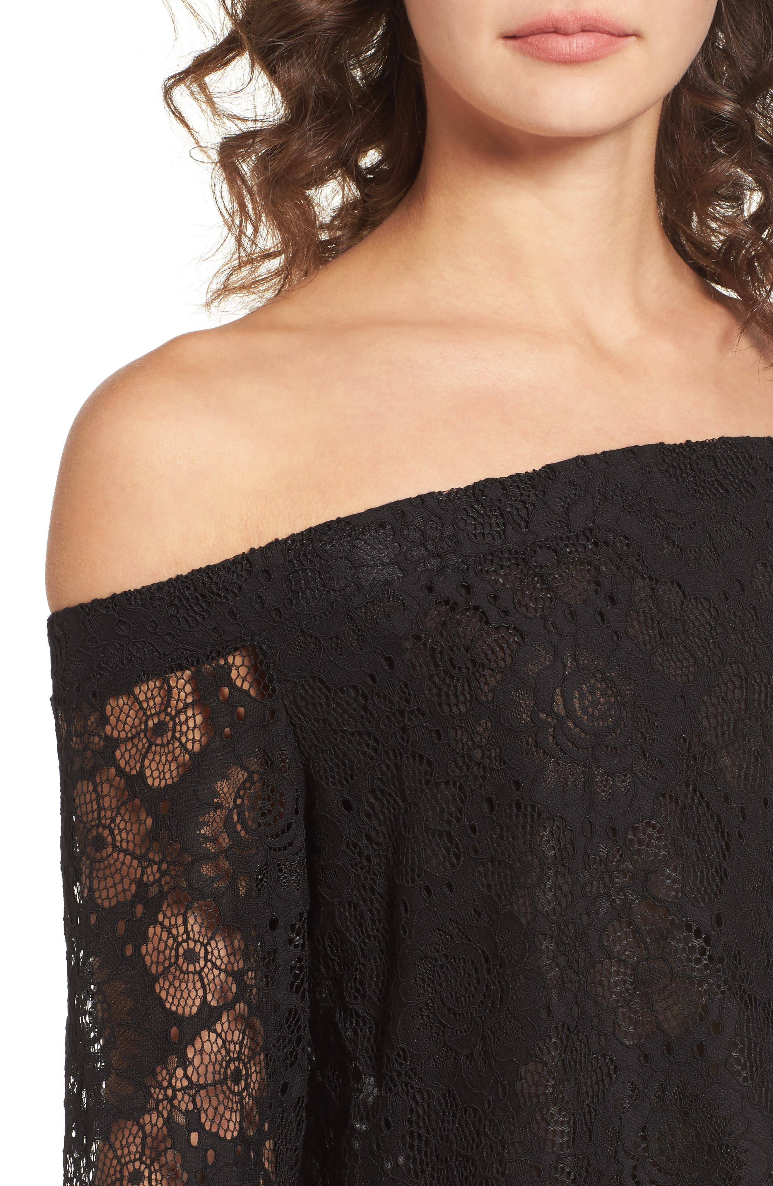 Alternate Image 5  - Lost + Wander Gabrielle Off the Shoulder Lace Top