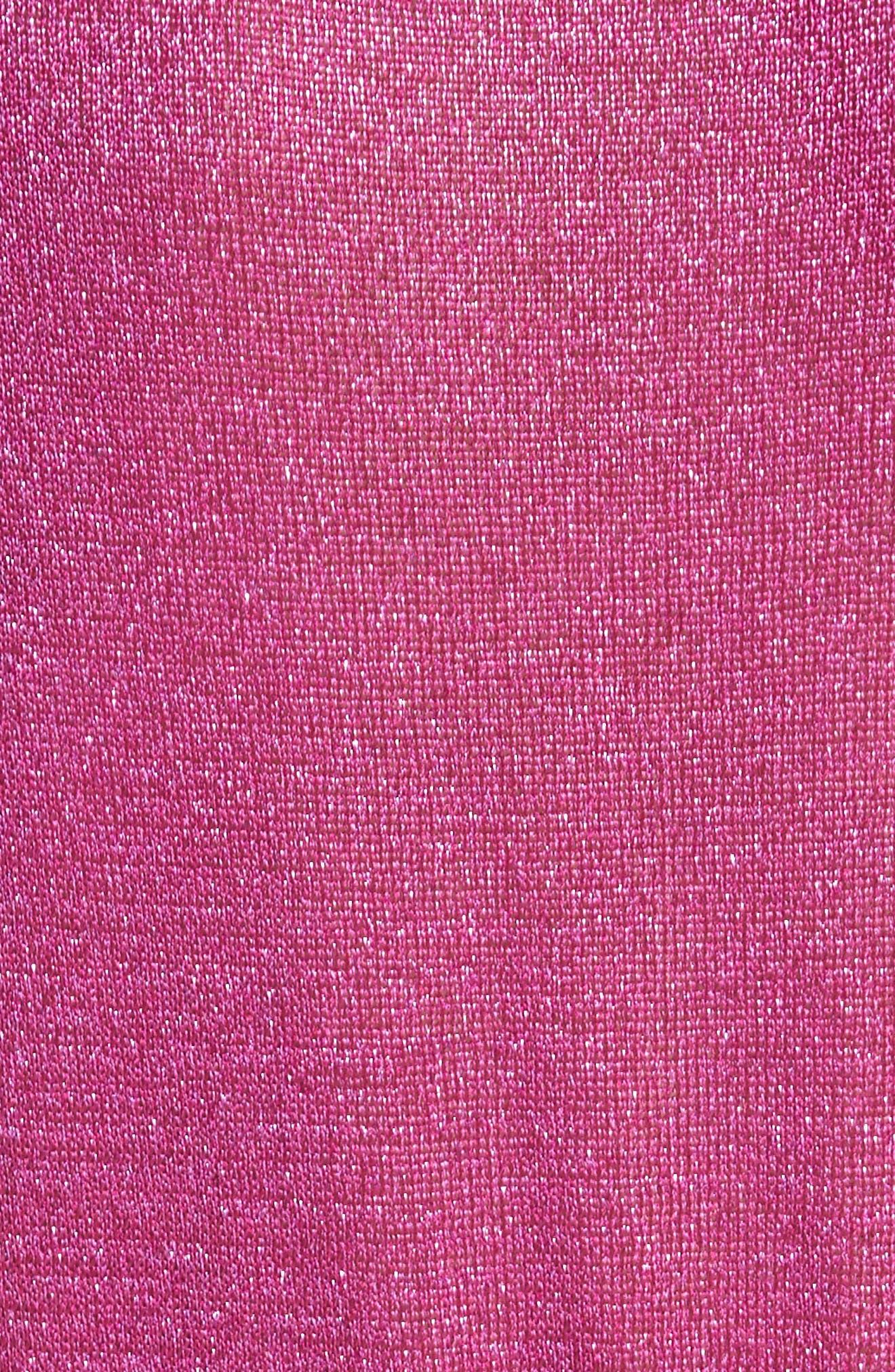 Metallic Knit Tee,                             Alternate thumbnail 5, color,                             Pink