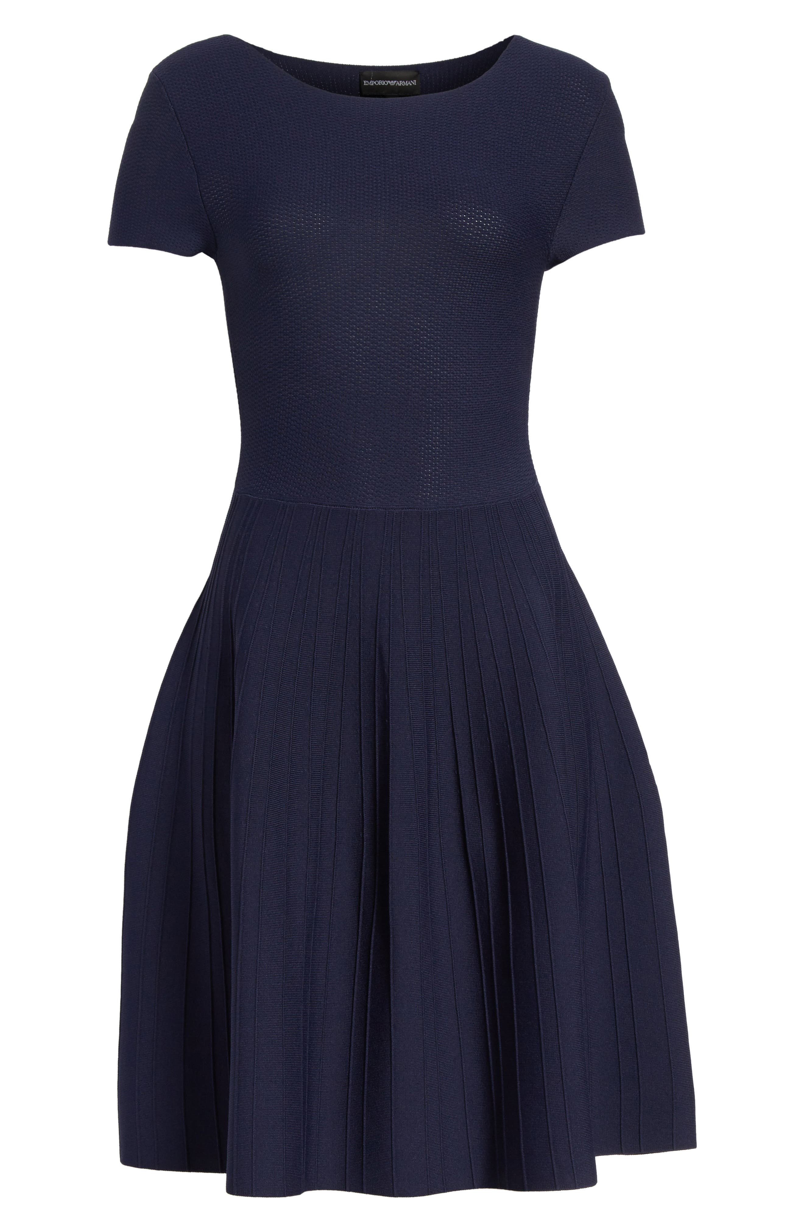Alternate Image 6  - Emporio Armani Knit Fit & Flare Dress