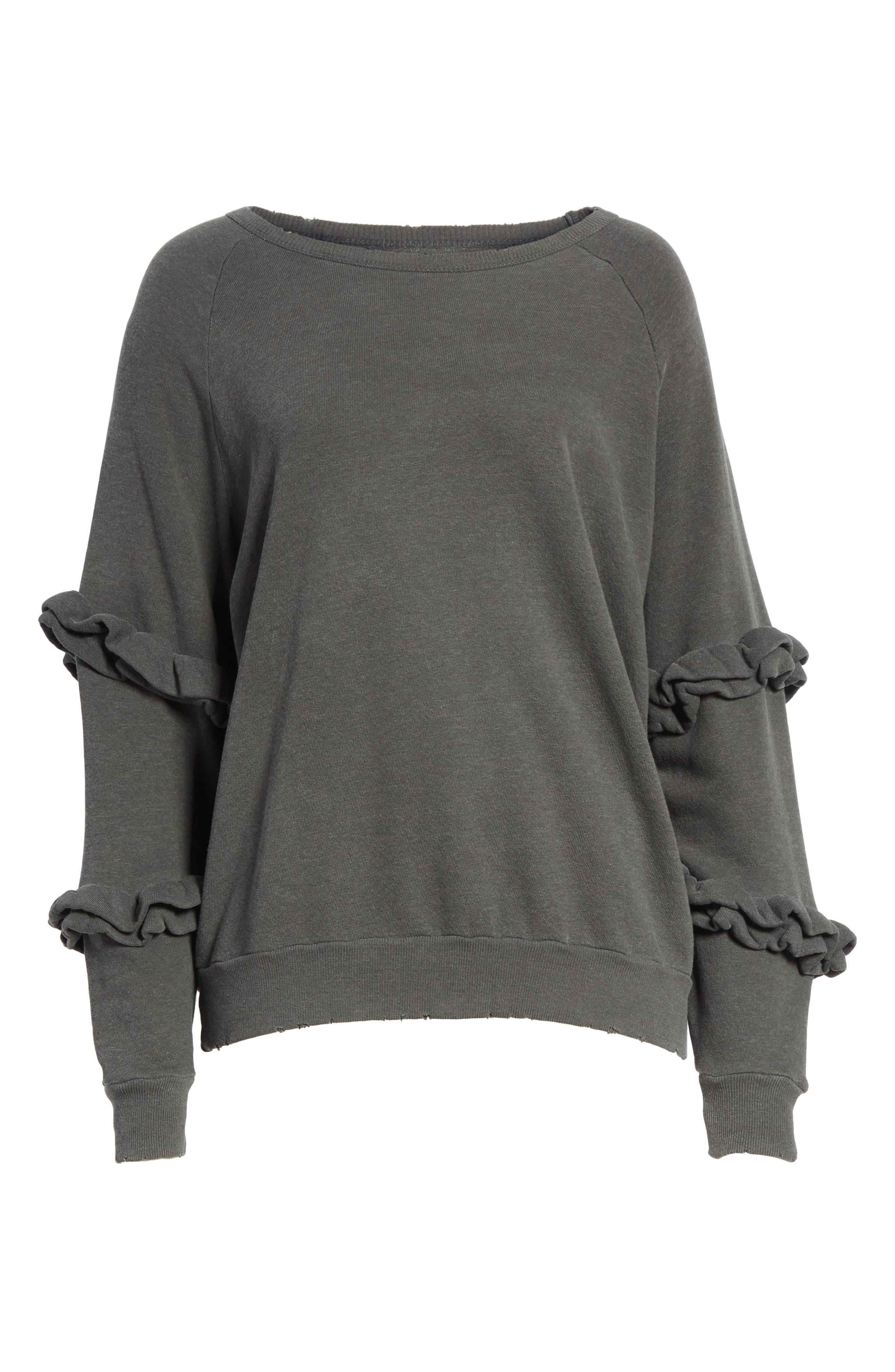Alternate Image 7  - THE GREAT. The Frill Sleeve Sweatshirt