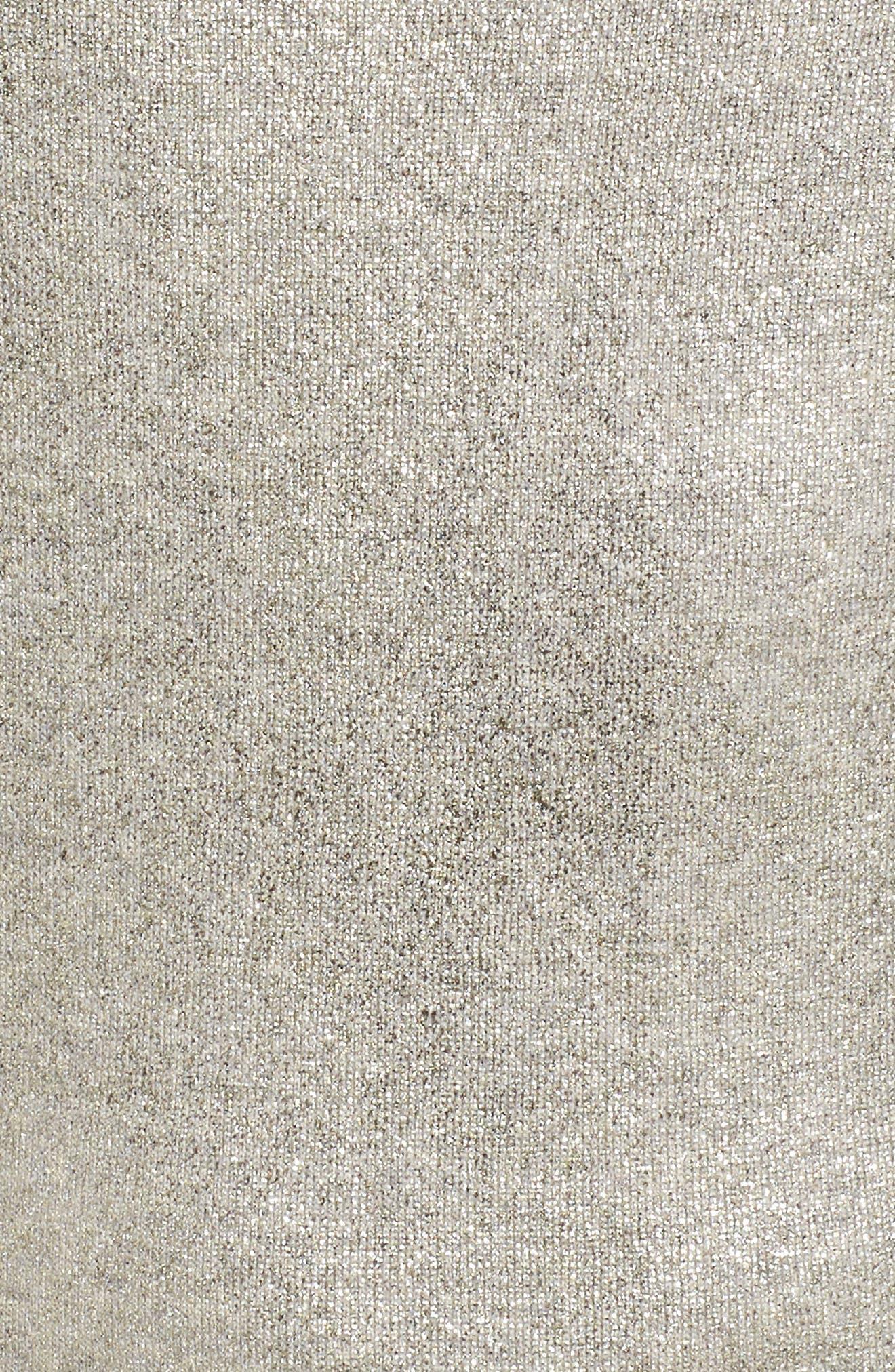 Fadine Wool Crewneck Sweater,                             Alternate thumbnail 5, color,                             Cozy Grey Melange