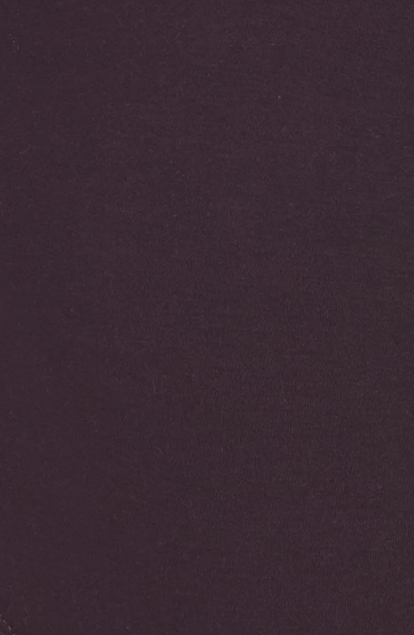 Crisscross Bodysuit,                             Alternate thumbnail 6, color,                             Raisin