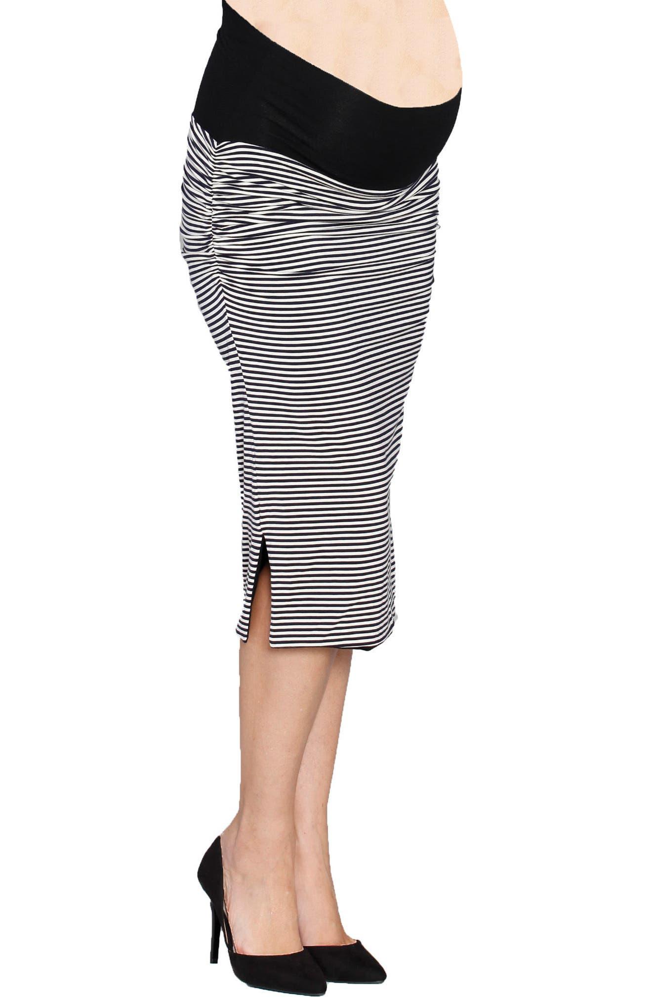 Reversible Maternity Skirt,                             Main thumbnail 1, color,                             Stripes
