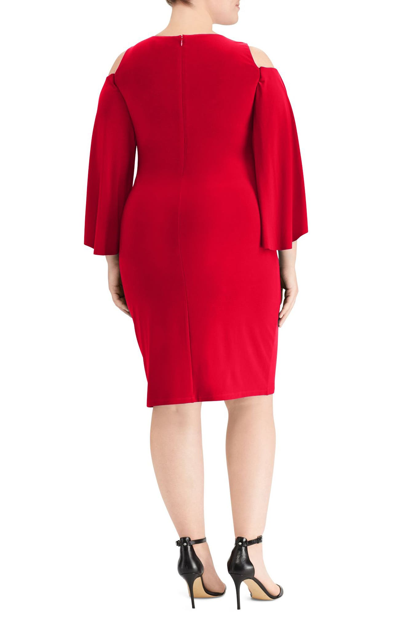 Debbie Dress,                             Alternate thumbnail 2, color,                             Parlor Red