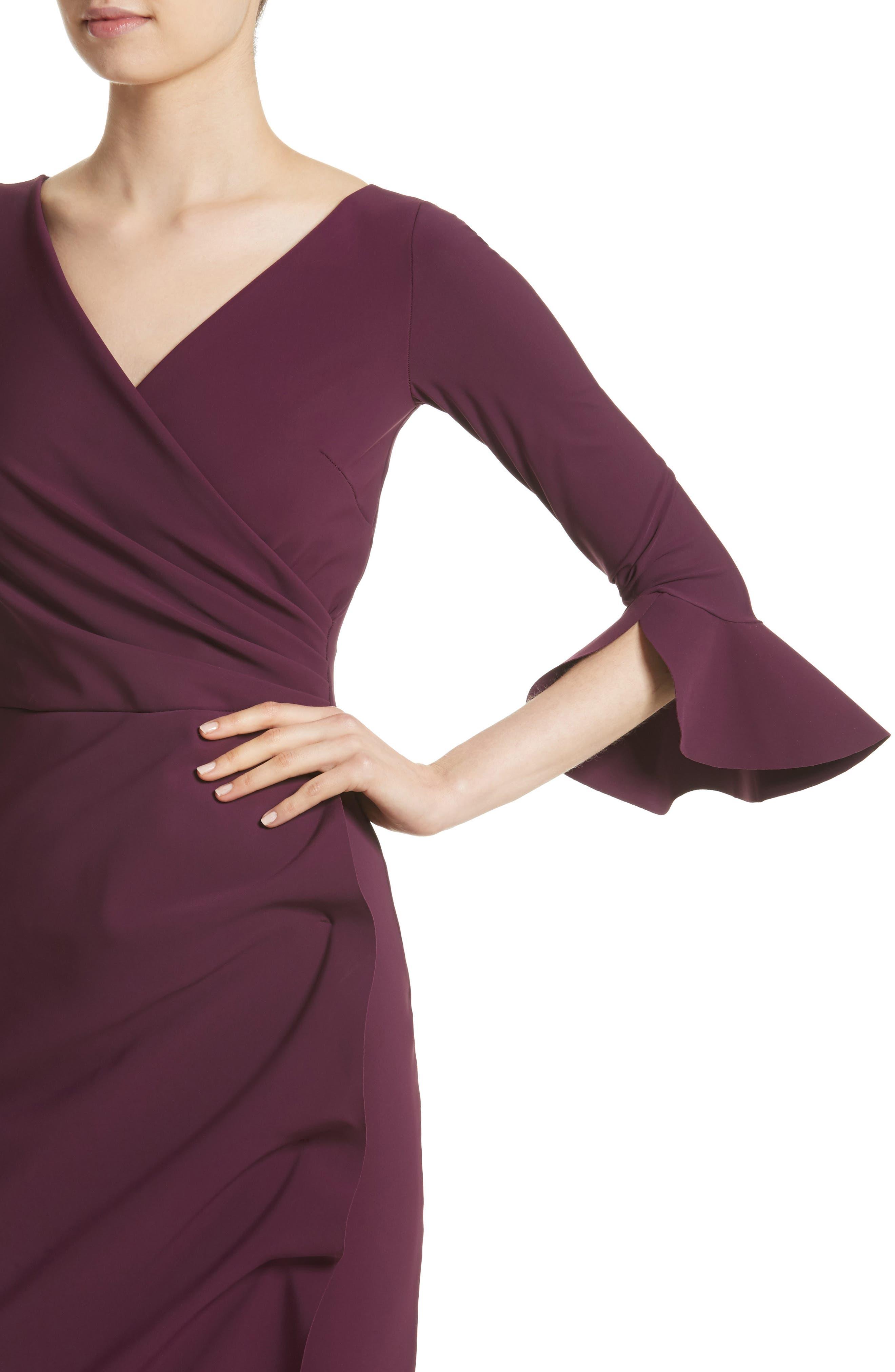 Alternate Image 4  - Chiara Boni La Petite Robe Ruffle Cuff Side Drape Gown
