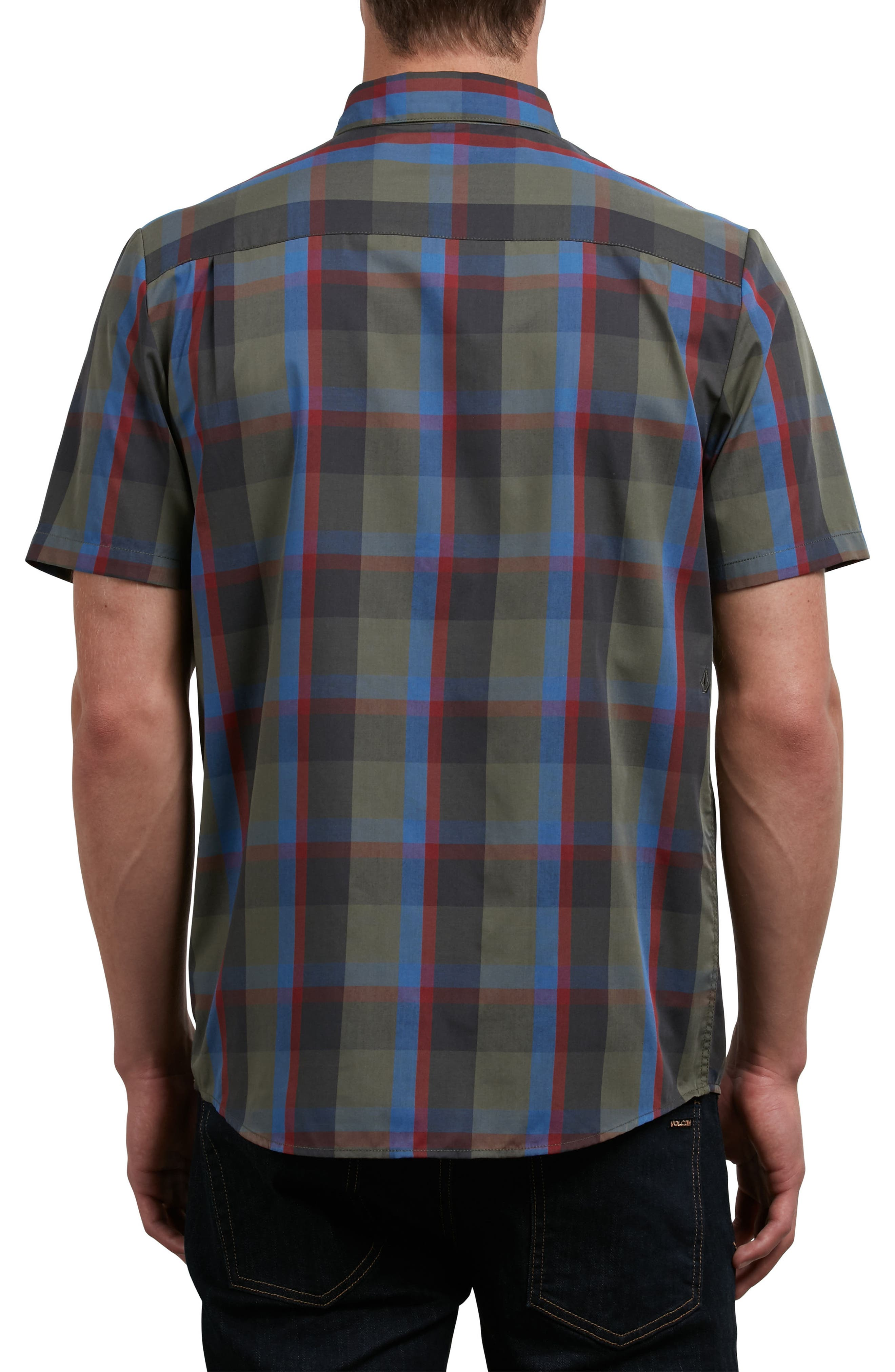 Woodson Woven Shirt,                             Alternate thumbnail 2, color,                             Green