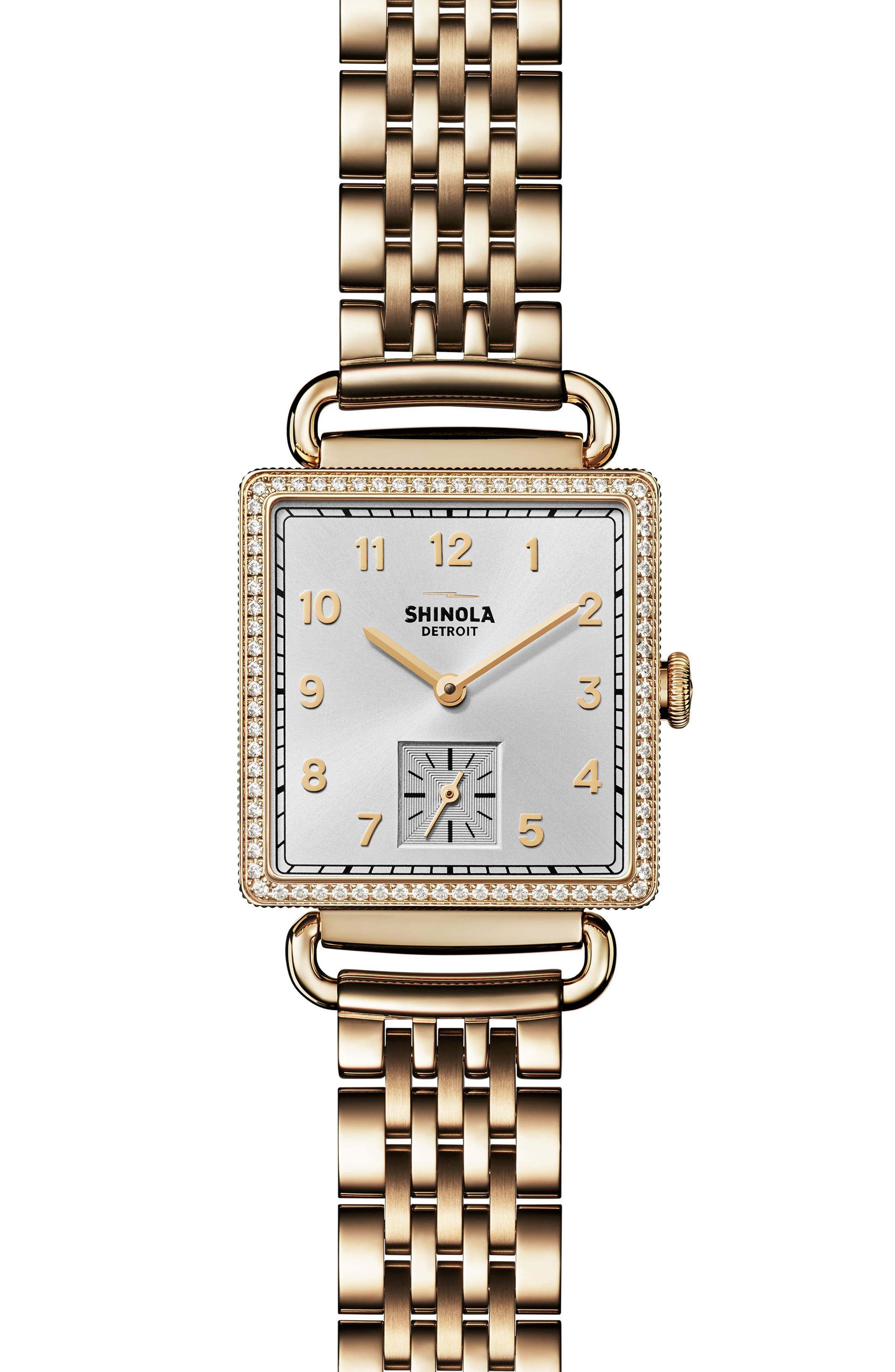 Shinola Cass Diamond Bracelet Watch, 28mm x 27mm