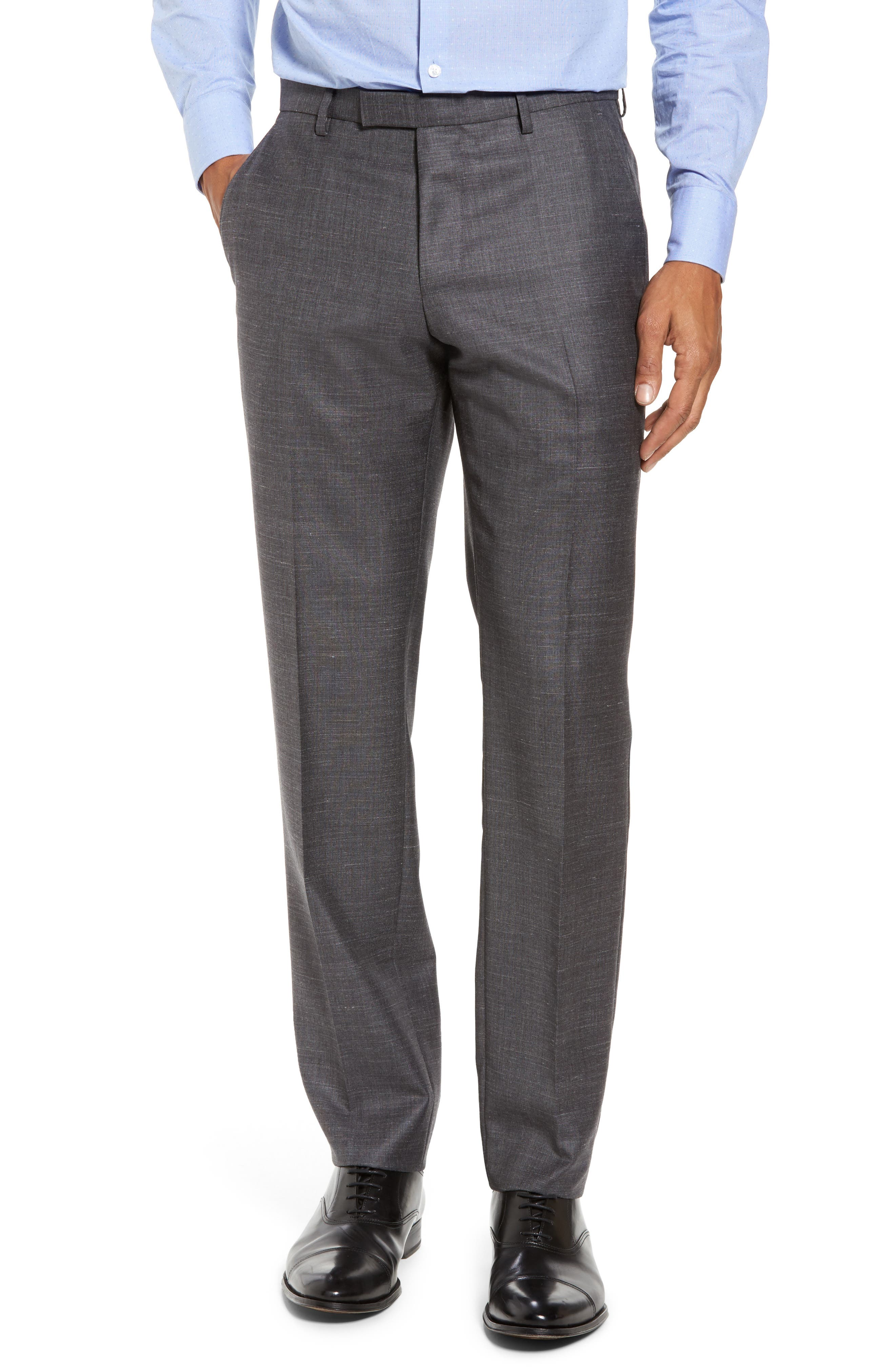 Johnstons/Lenon Classic Fit Solid Wool Blend Suit,                             Alternate thumbnail 6, color,                             Open Grey