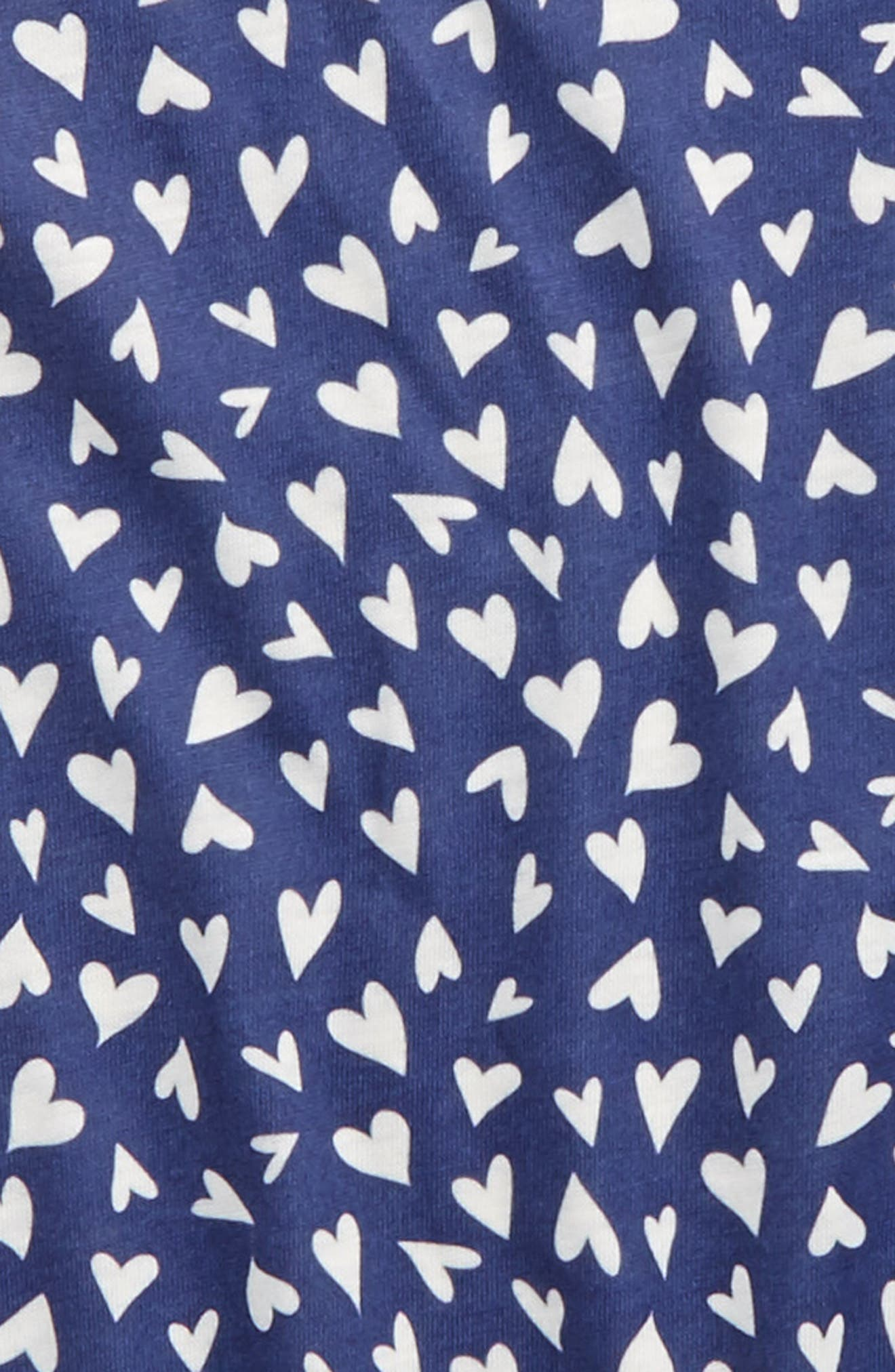 Ruffle Nightgown,                             Alternate thumbnail 2, color,                             Navy Skipper Tossed Hearts