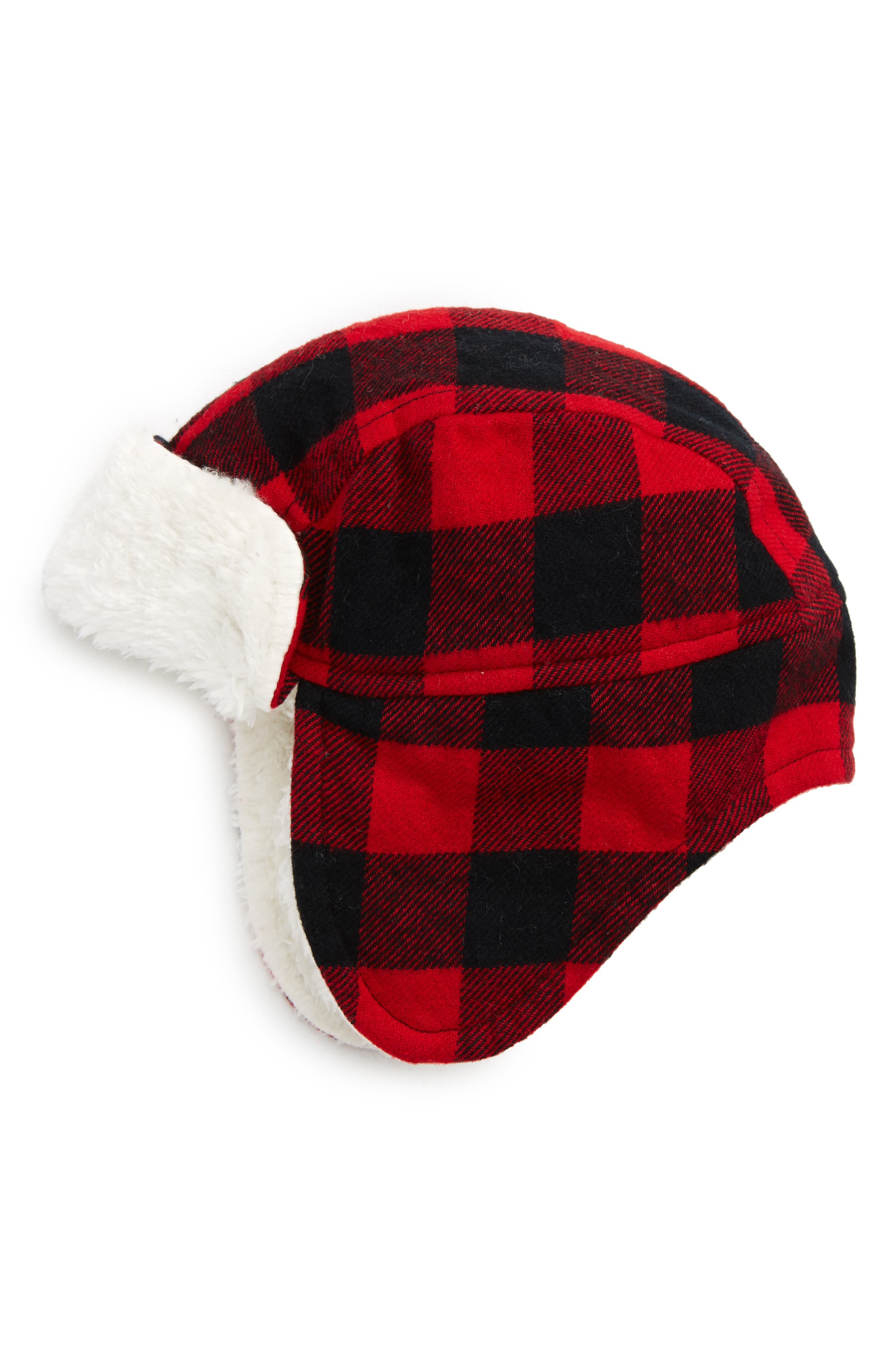 Flight Hat,                             Main thumbnail 1, color,                             Red Chili- Black Check