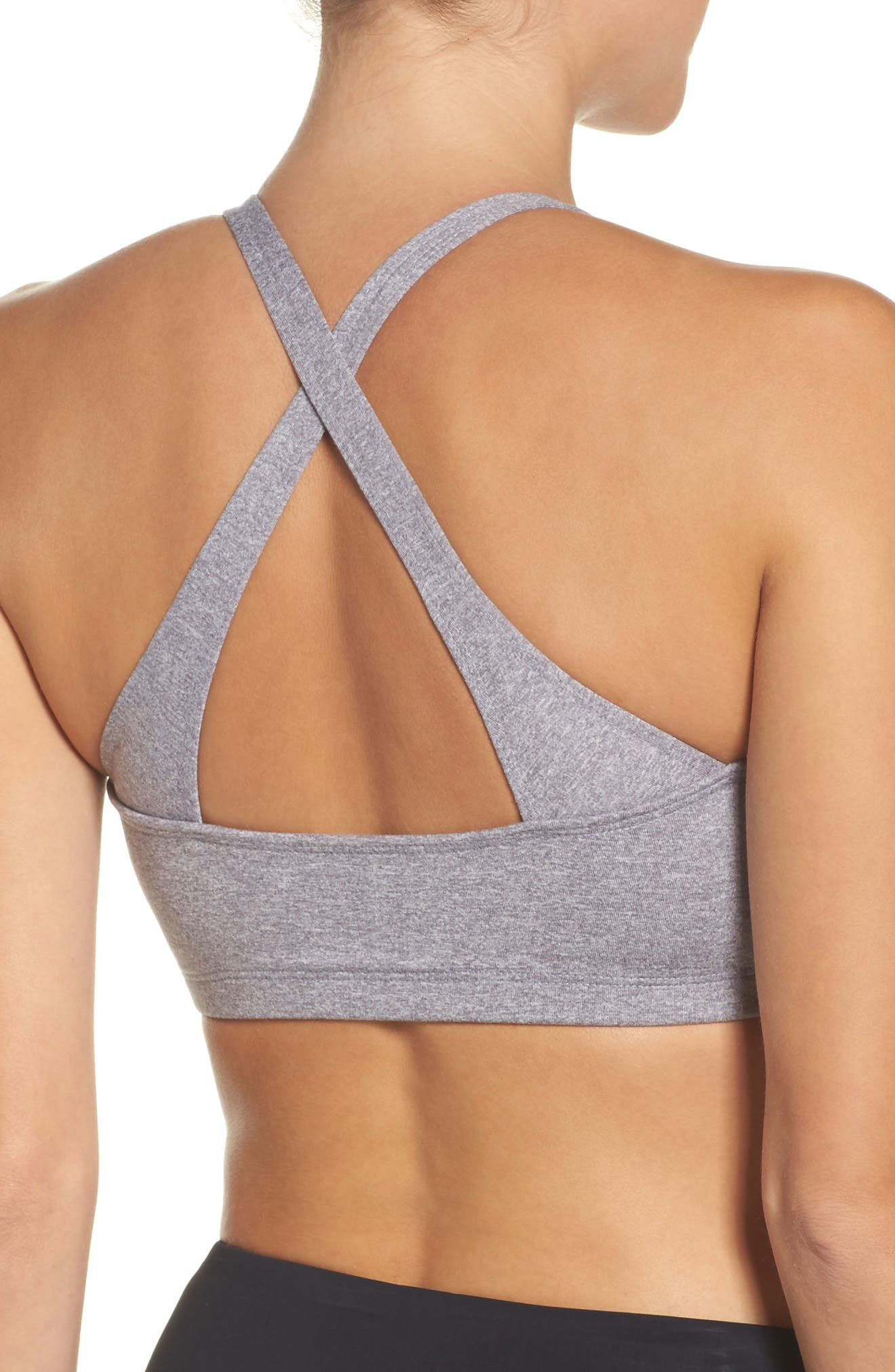 Heart Sports Bra,                             Alternate thumbnail 2, color,                             Stone Majestic