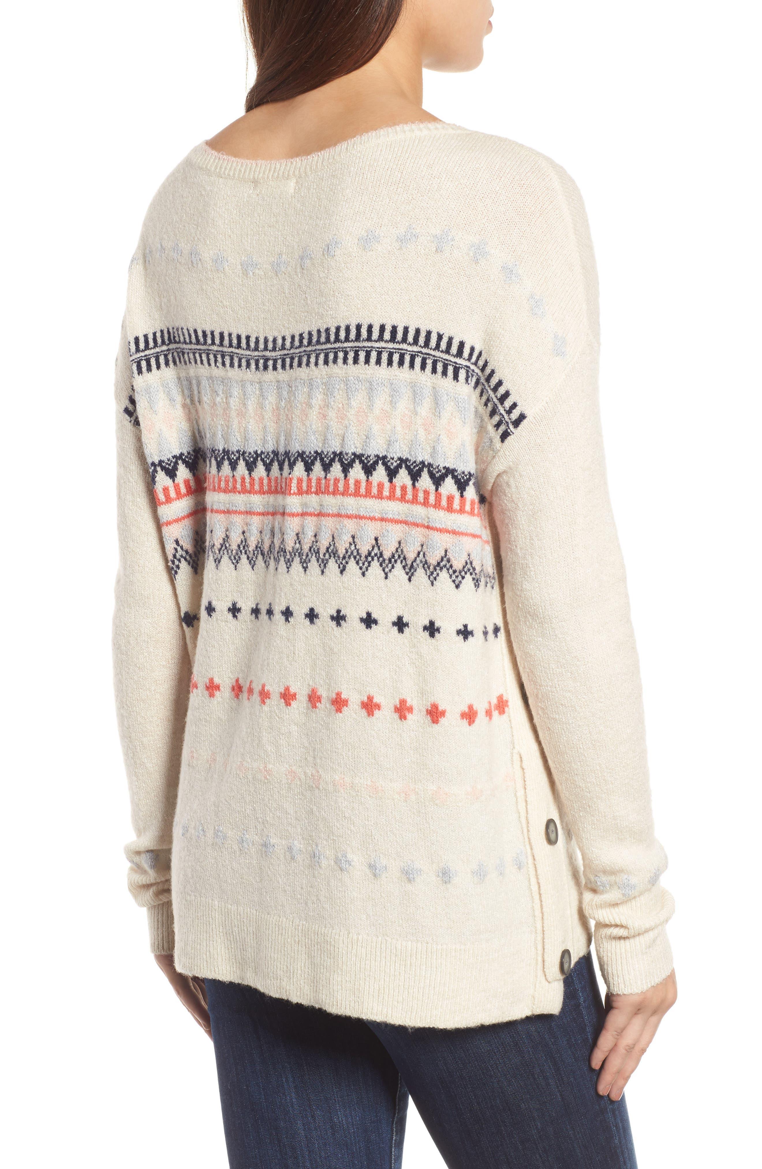 Alternate Image 2  - Caslon® Long Sleeve Side Button Sweater (Regular & Petite)