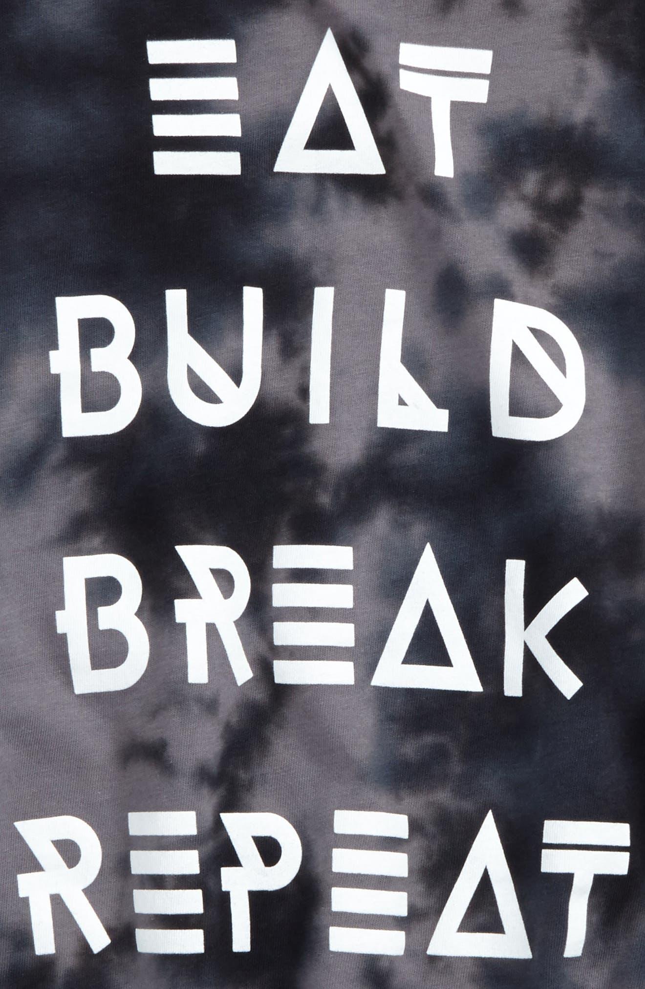Alternate Image 2  - Tucker + Tate Eat Build Break Repeat Graphic T-Shirt (Toddler Boys, Little Boys & Big Boys)