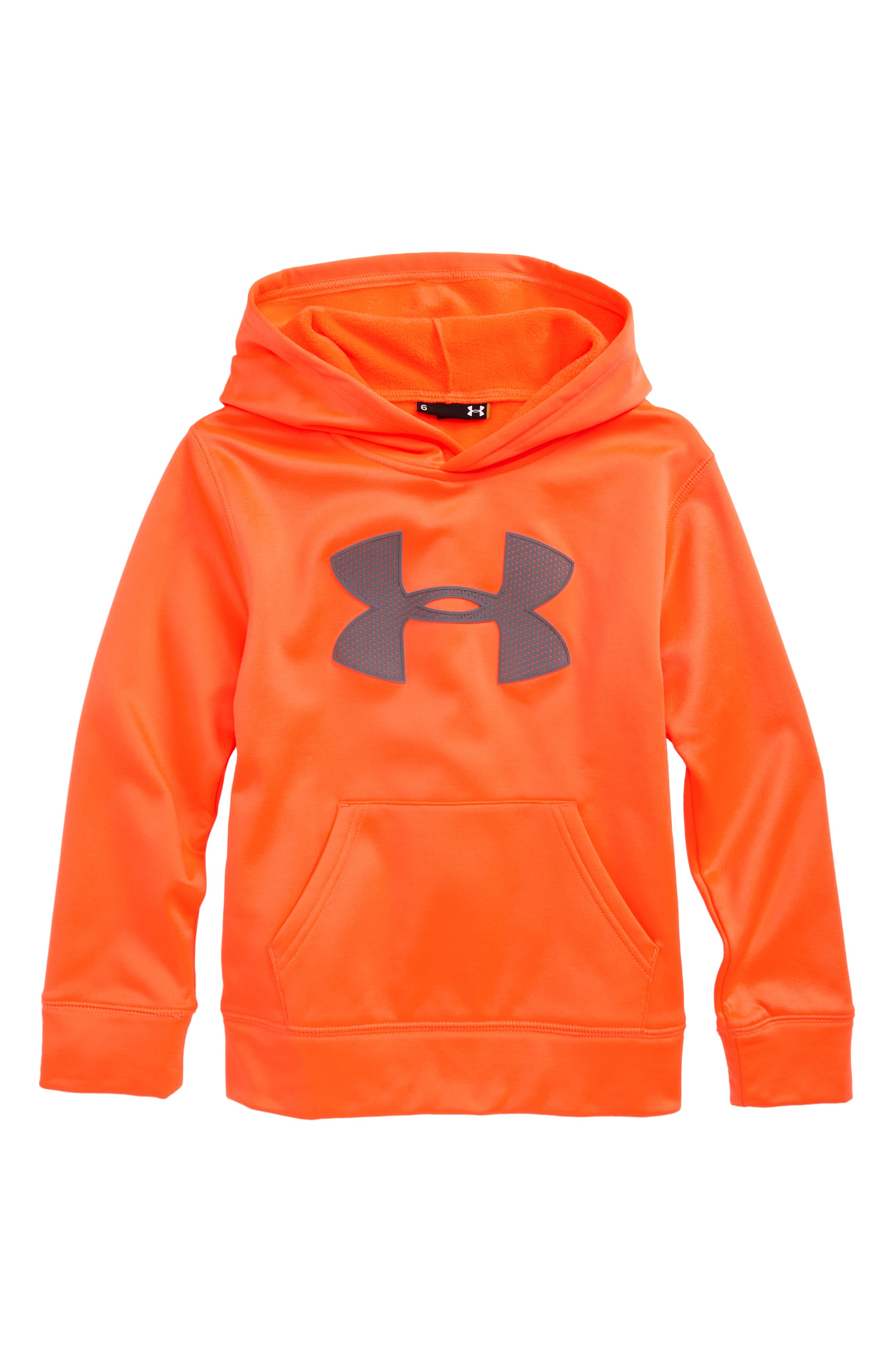 Under Armour Mesh Big Logo Pullover Hoodie (Little Boys)