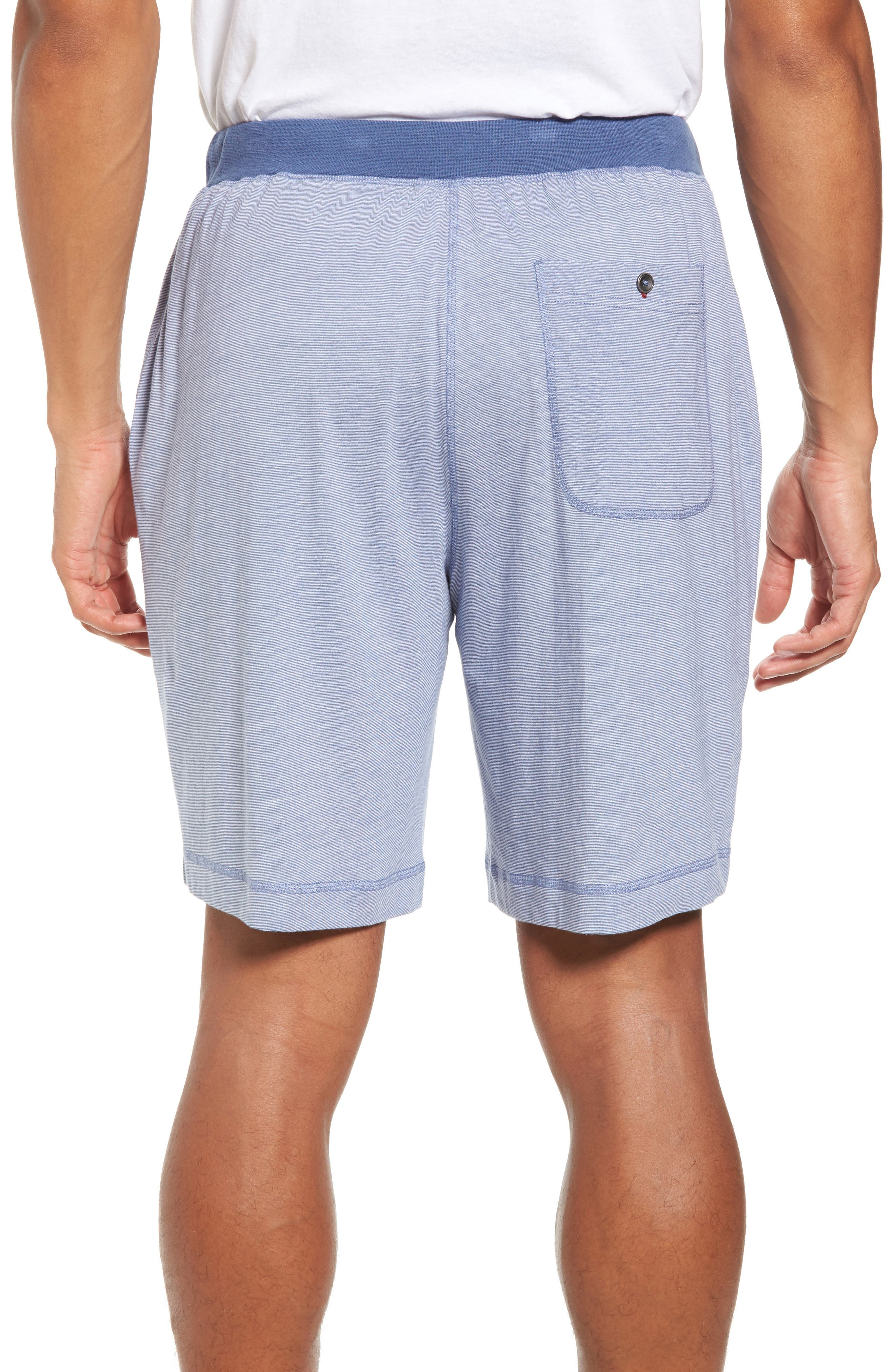Pima Cotton & Modal Lounge Shorts,                             Alternate thumbnail 2, color,                             Blue/ Ivory