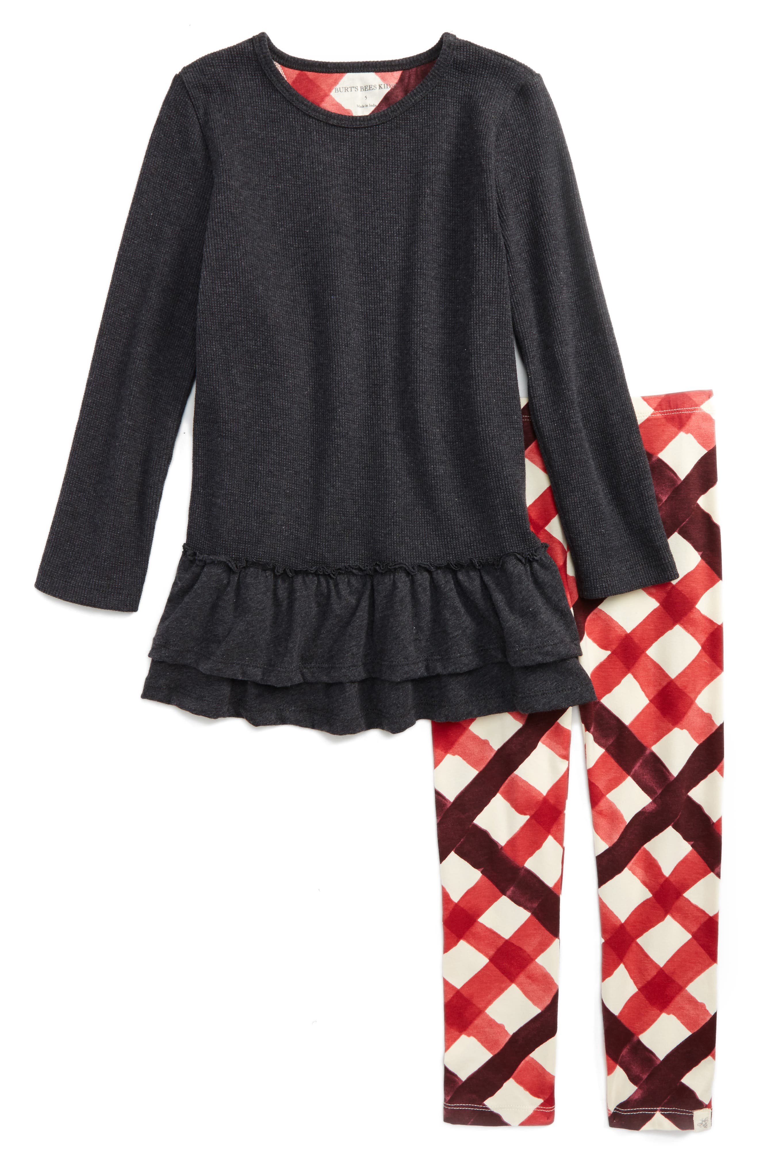 Burt's Bees Baby Thermal Ruffle Skater Dress & Leggings Set (Toddler Girls & Little Girls)