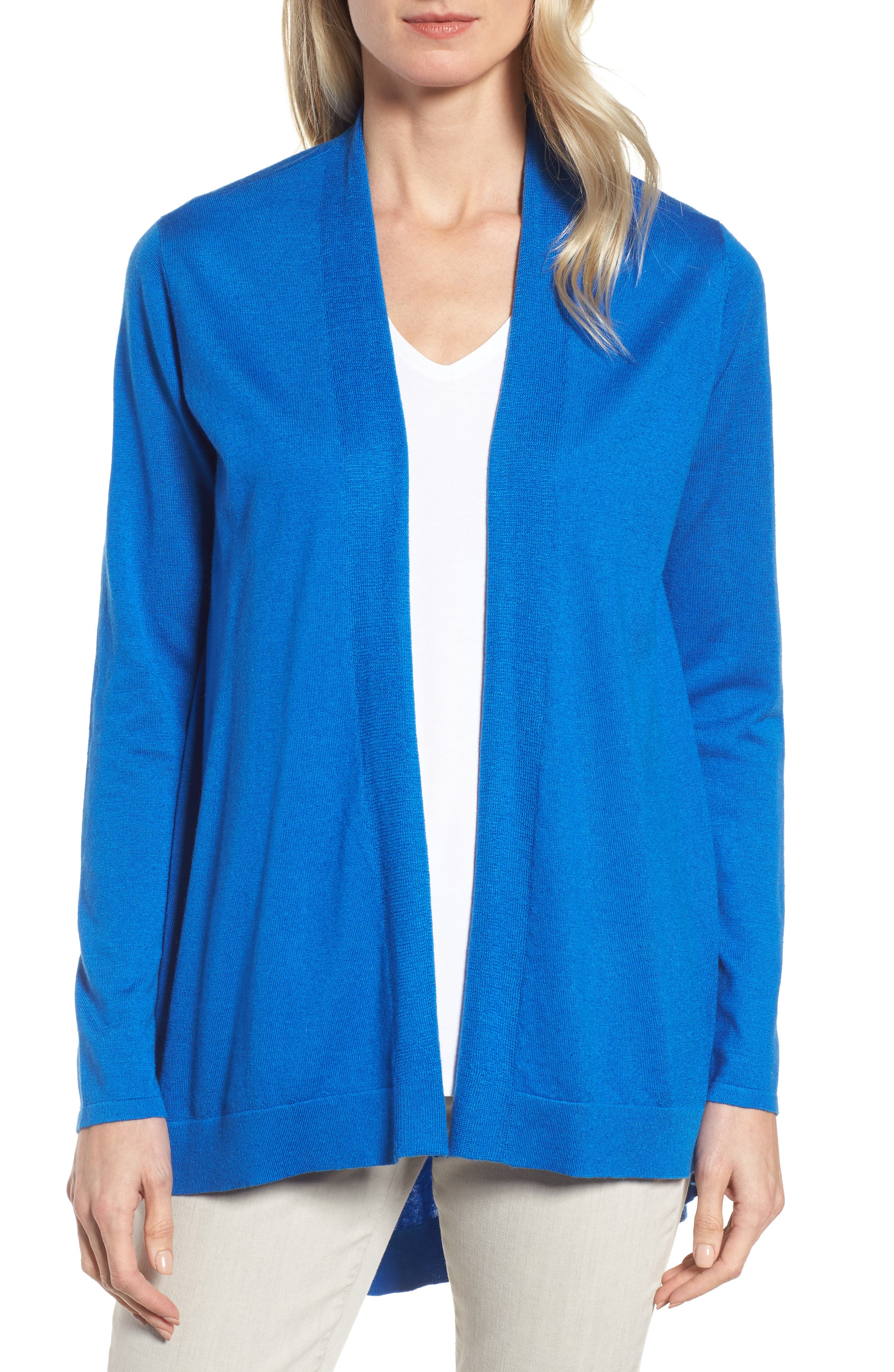 Alternate Image 1 Selected - Eileen Fisher Shaped Tencel® Blend Cardigan
