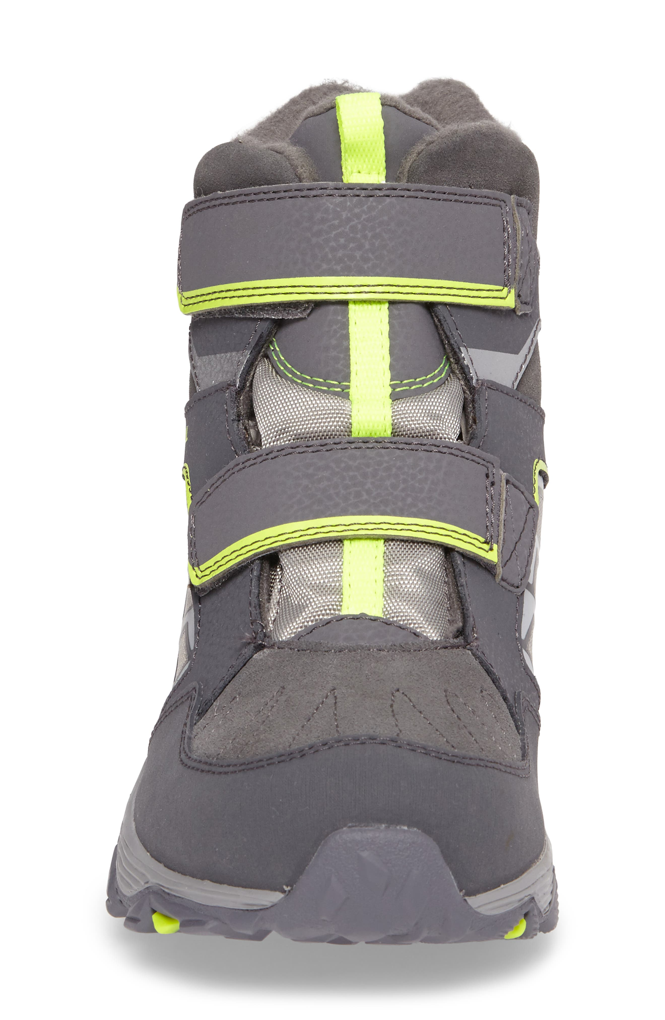 Moab FST Polar Mid Waterproof Boot,                             Alternate thumbnail 4, color,                             Grey