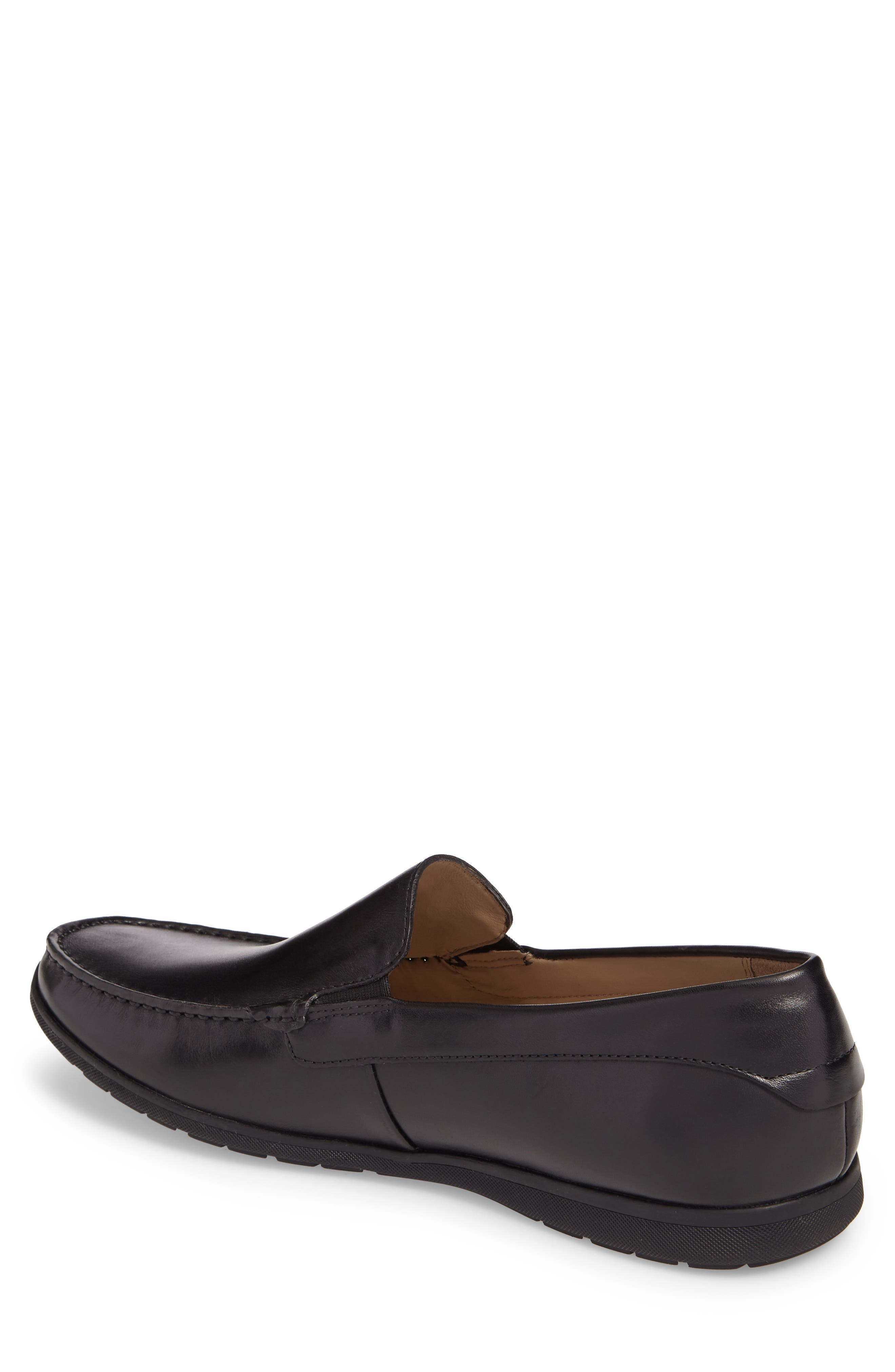 Classic Loafer,                             Alternate thumbnail 2, color,                             Black Leather