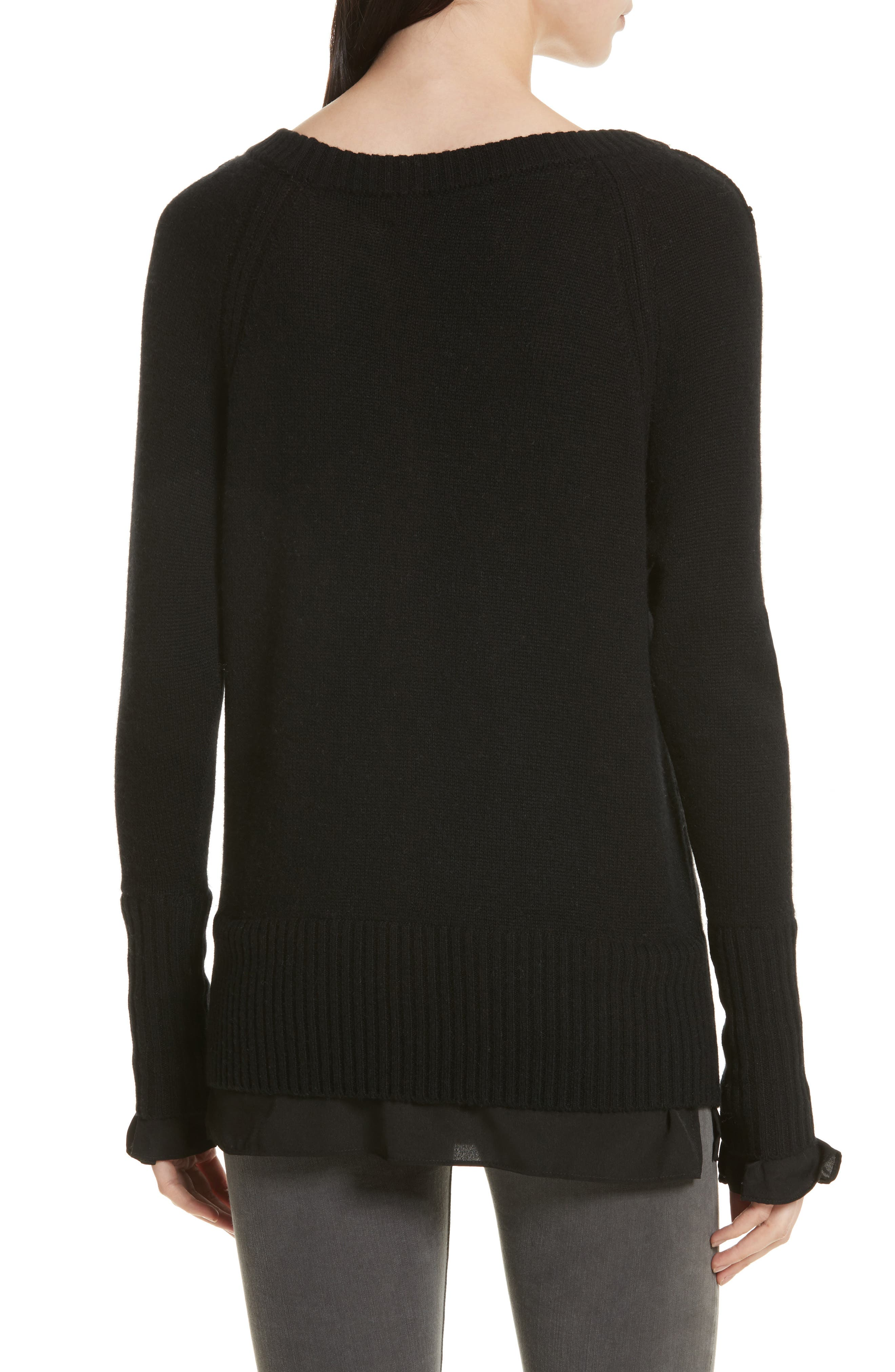 Alternate Image 2  - Brochu Walker Flores Layered Off Shoulder Sweater