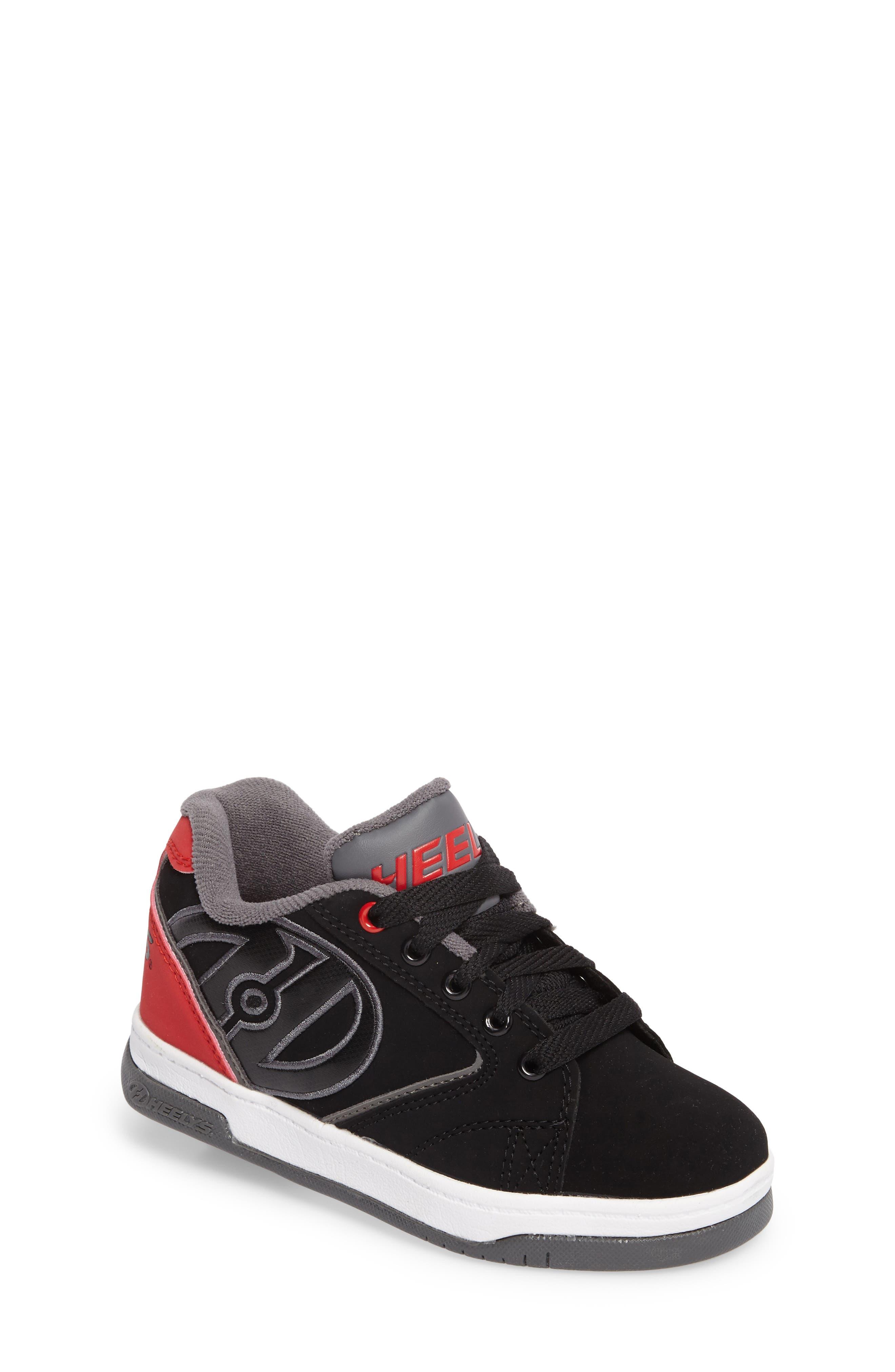 Heeleys'Propel 2.0' Sneaker,                             Main thumbnail 1, color,                             Black/ Red/ Grey