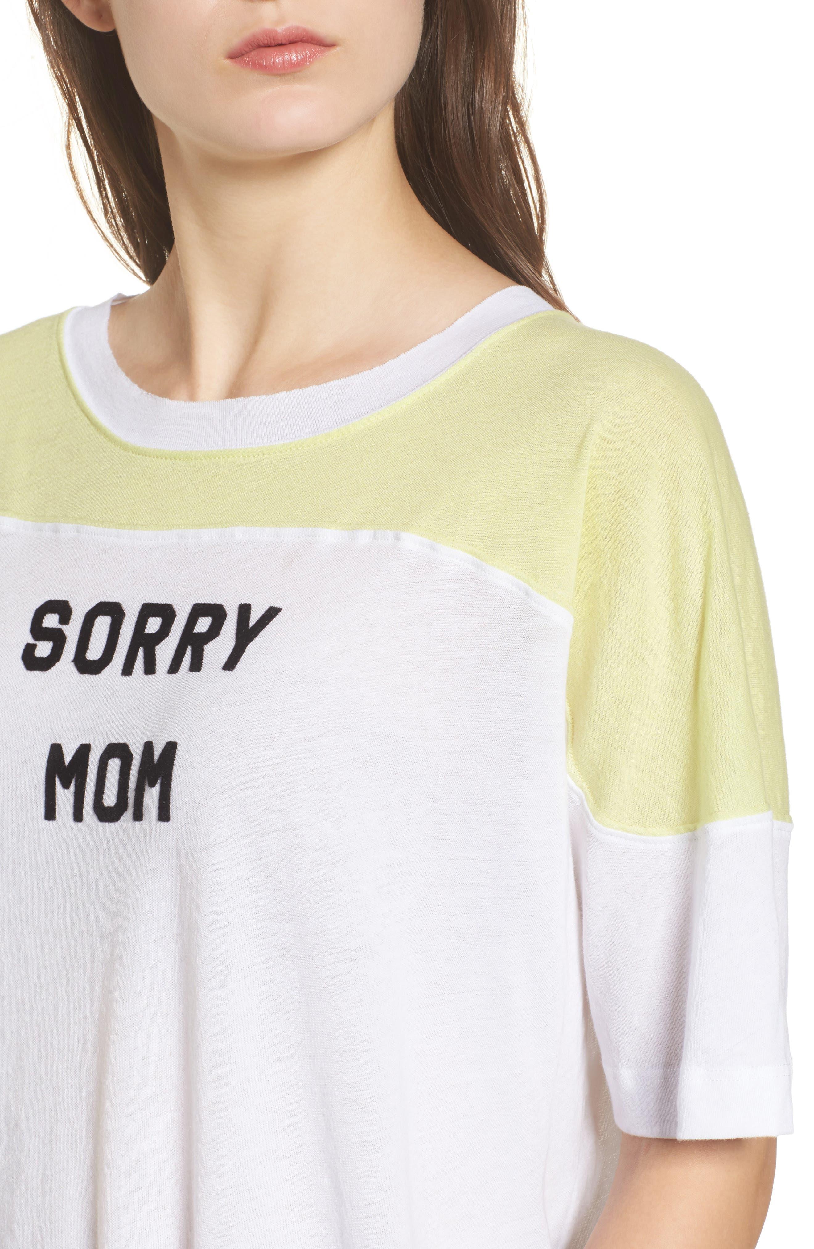 Sorry Mom Samuel Tee,                             Alternate thumbnail 4, color,                             Clean White