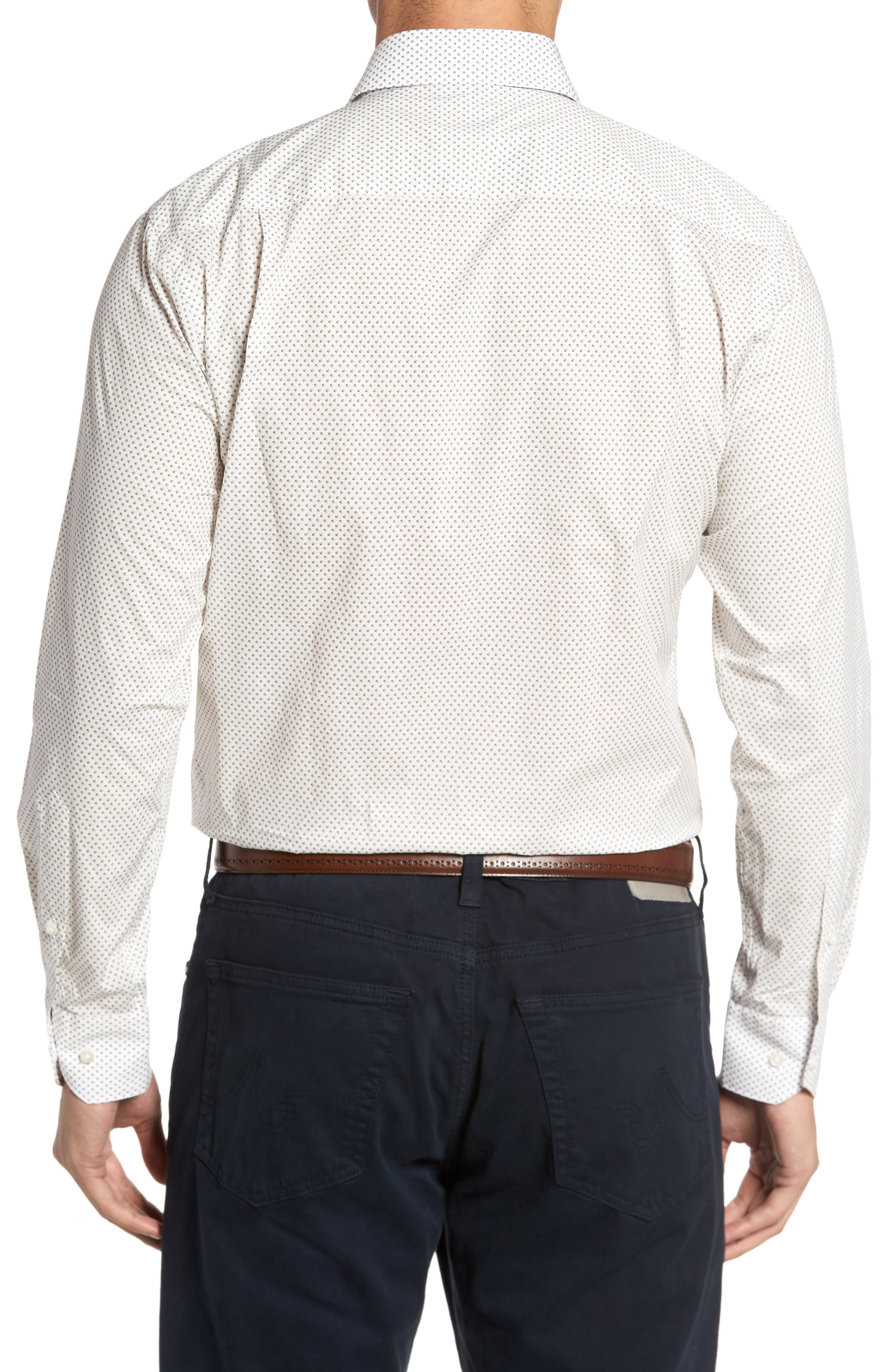 Alternate Image 2  - Peter Millar Collection Desert Dot Print Sport Shirt