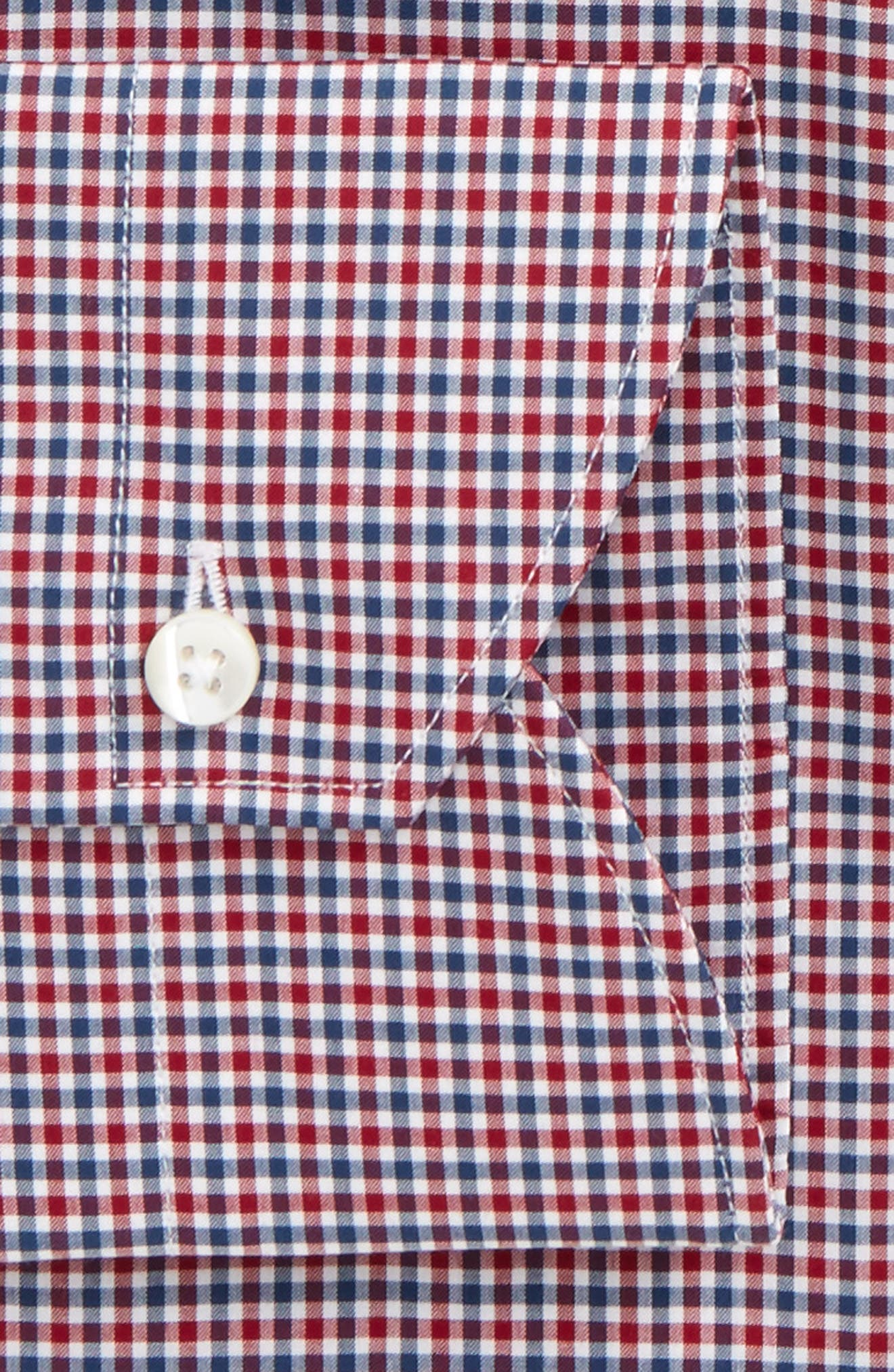 Regular Fit Dress Shirt,                             Alternate thumbnail 2, color,                             Bright Red/ Blue