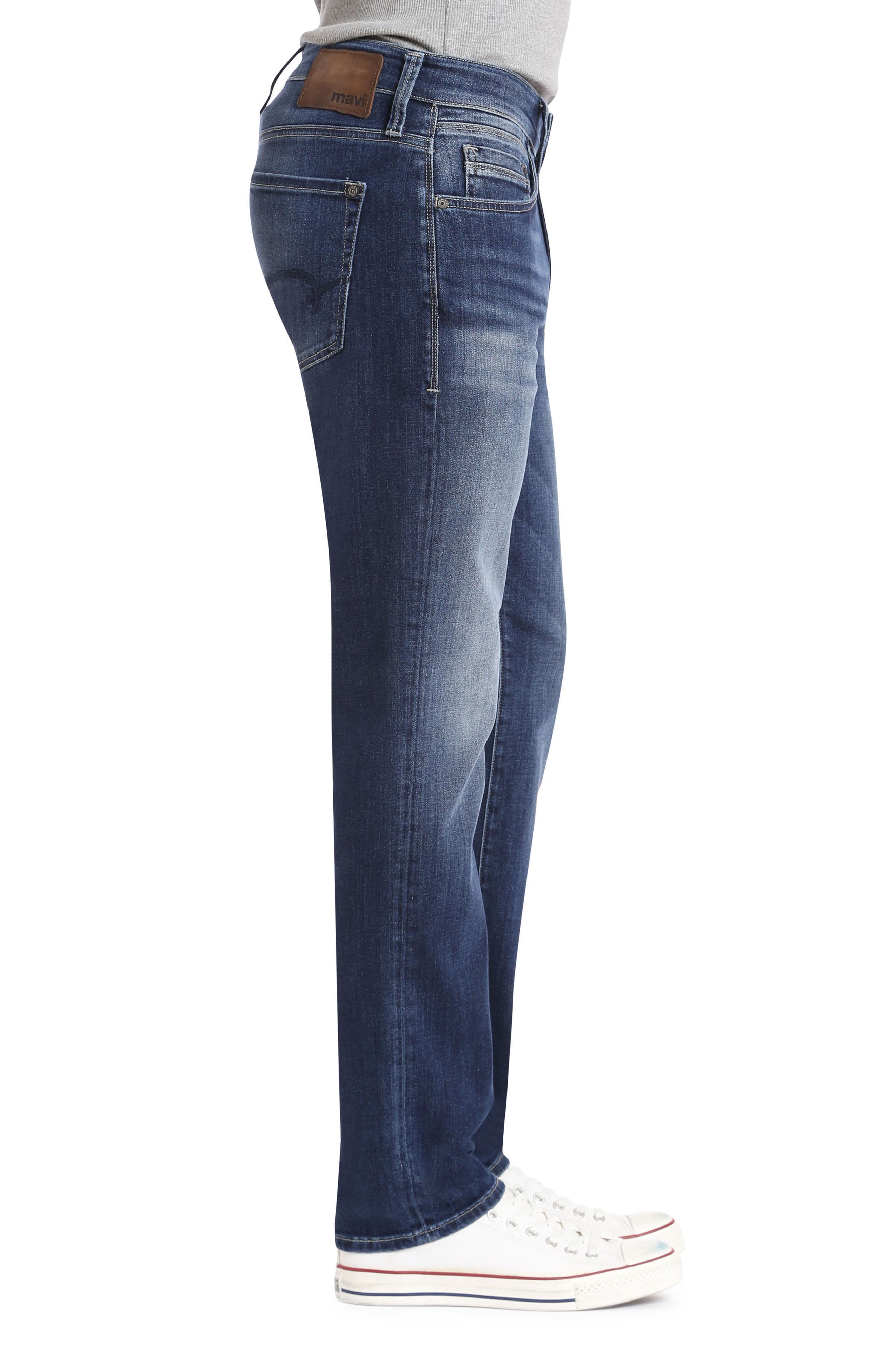 Marcus Slim Straight Leg Jeans,                             Alternate thumbnail 3, color,                             Dark Blue Williamsburg