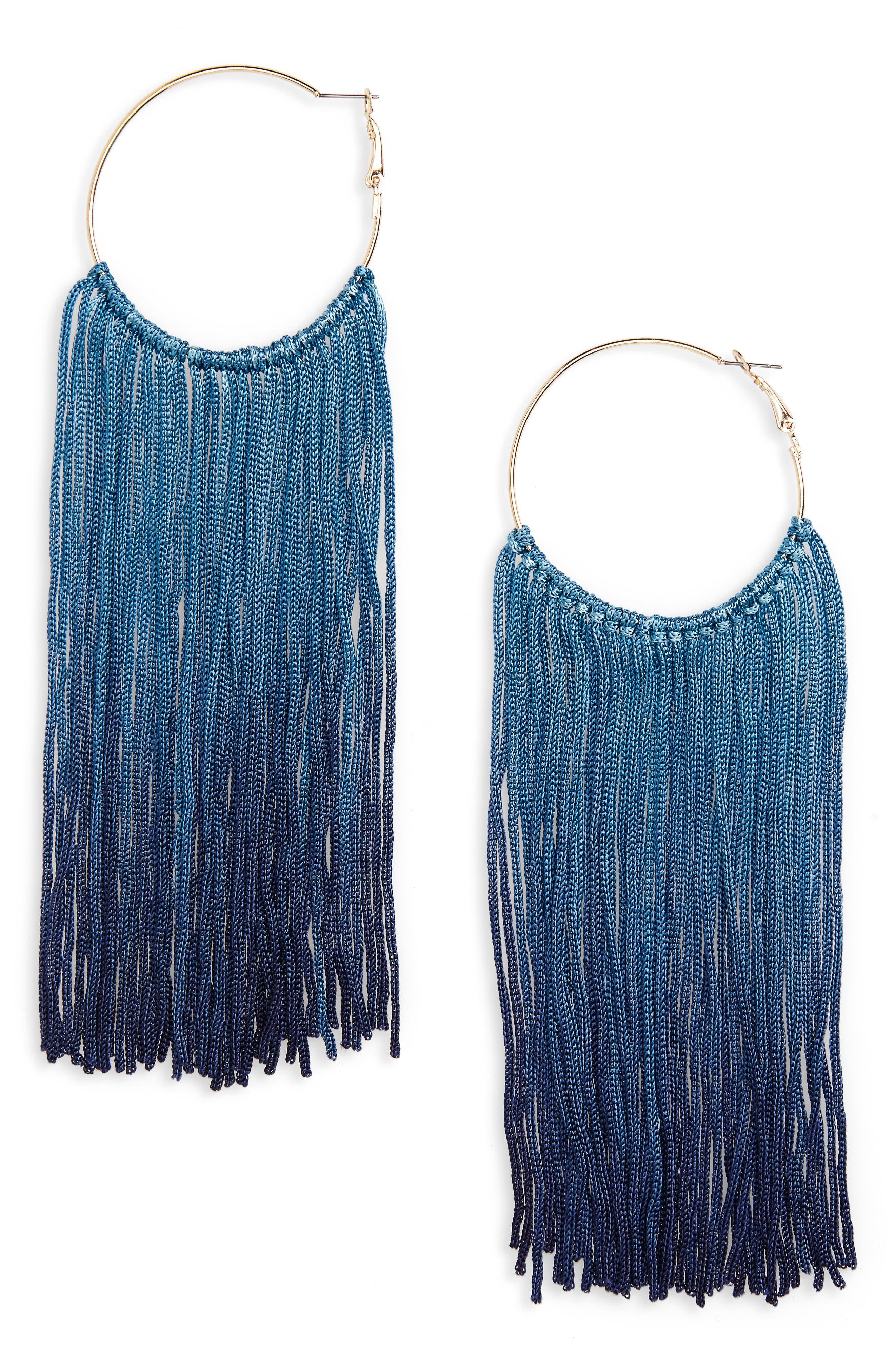 BP. Long Ombré Tassel Earrings
