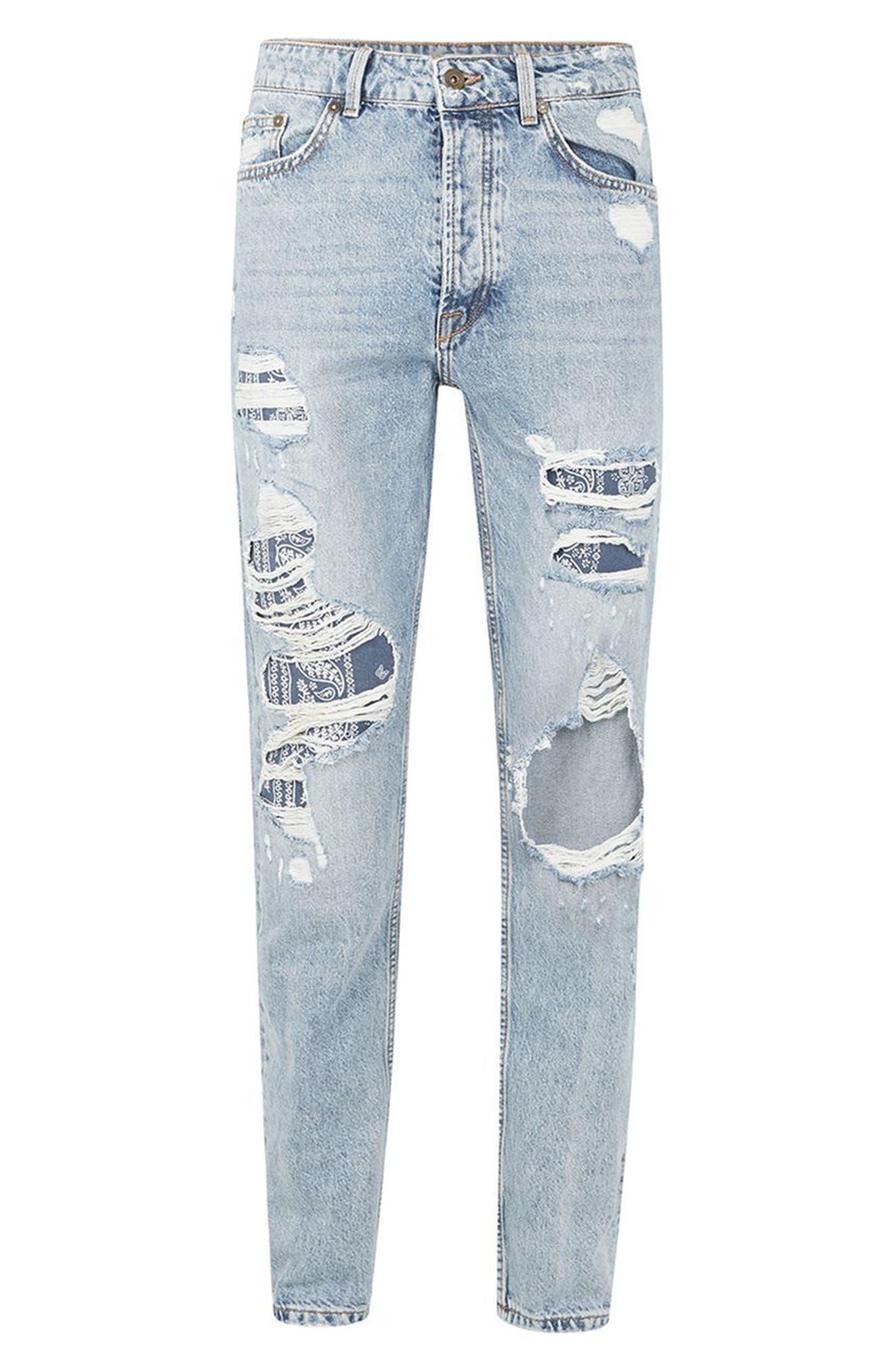 Alternate Image 4  - Topman Patch Standard Fit Jeans