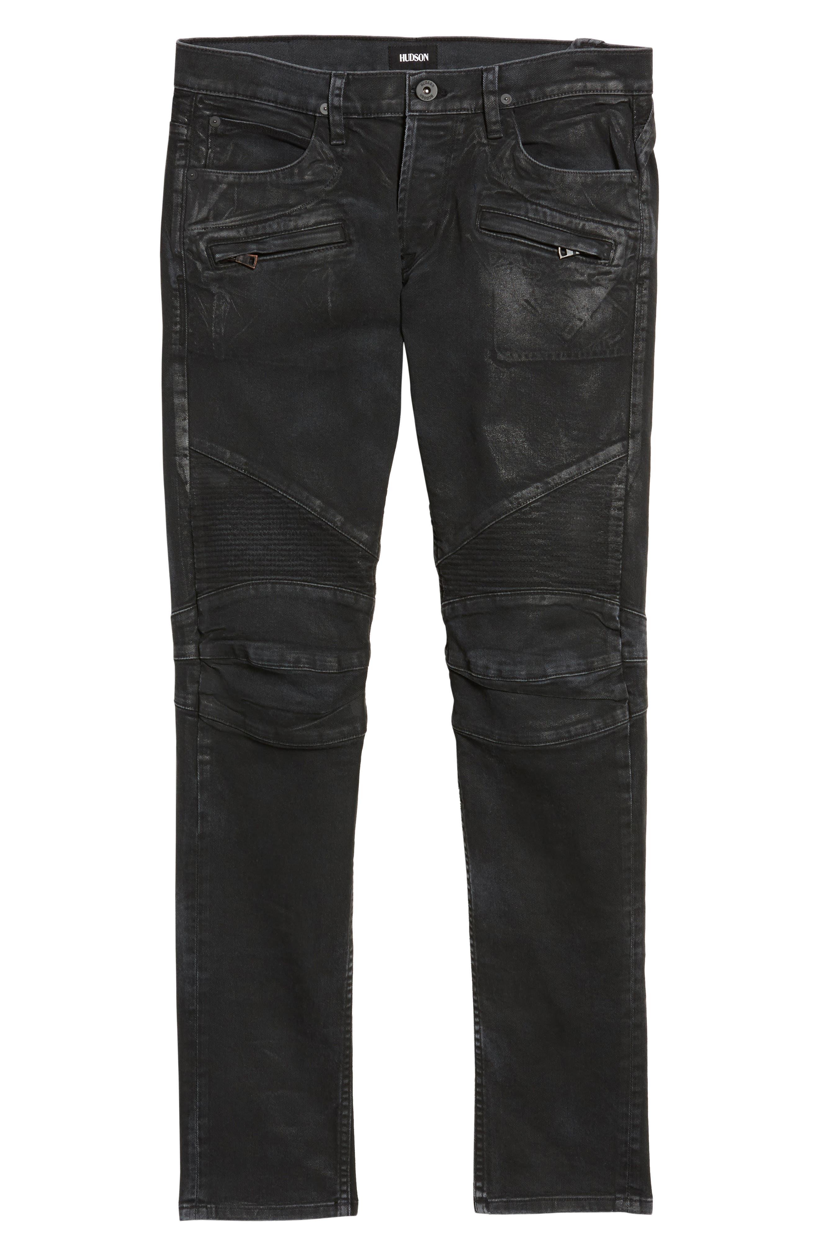 Alternate Image 6  - Hudson Jeans Blinder Biker Skinny Fit Jeans (Skeme)