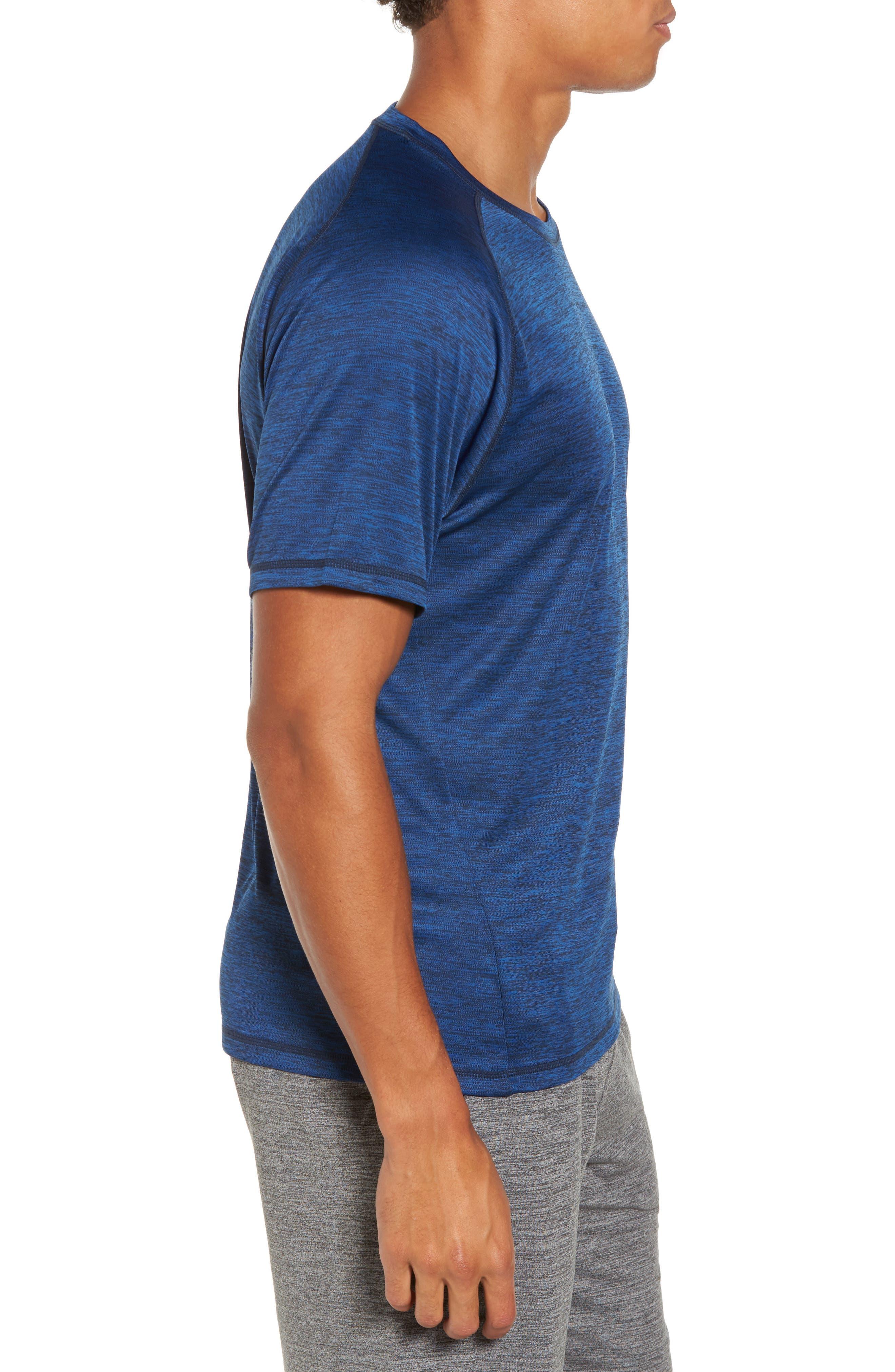 Triplite T-Shirt,                             Alternate thumbnail 3, color,                             Navy Malachite Melange