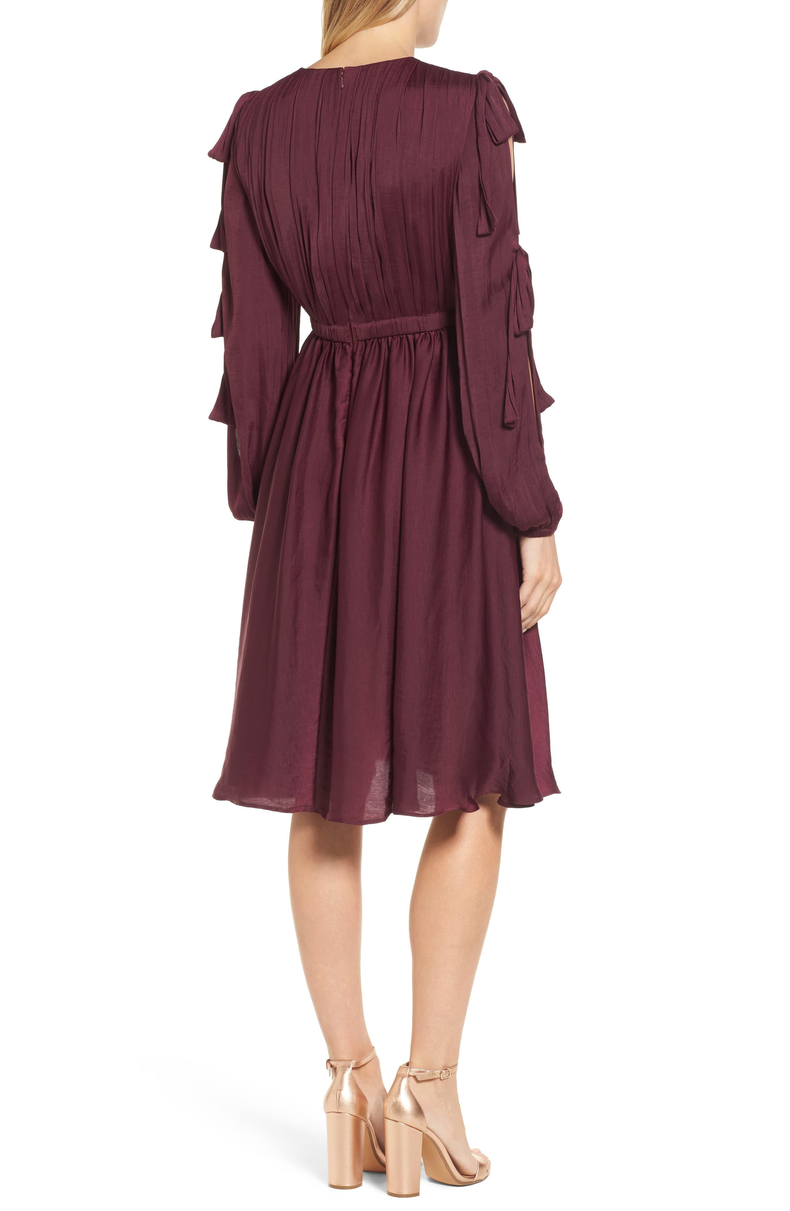 Mena Dress,                             Alternate thumbnail 2, color,                             Grape Wine
