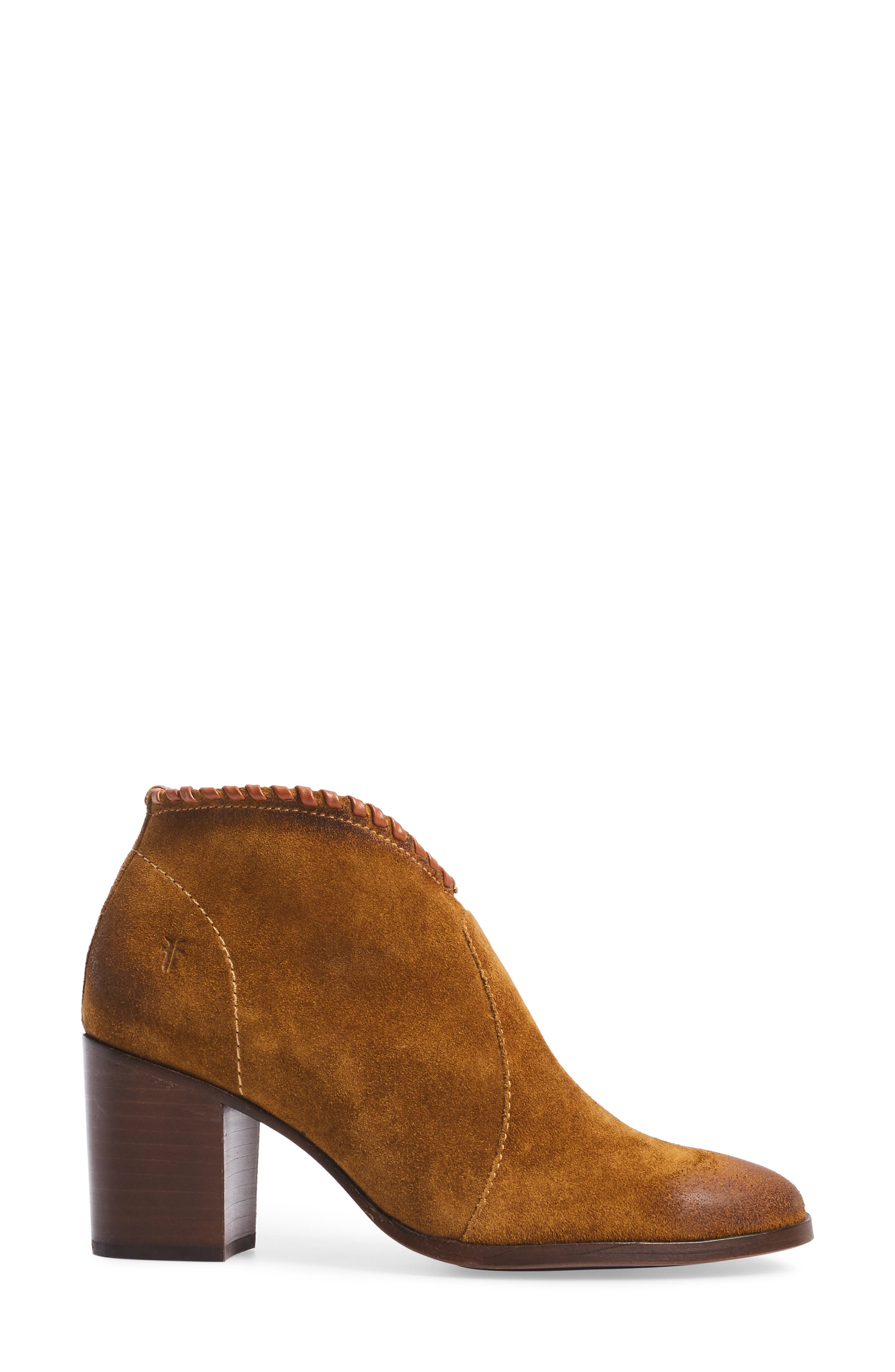 Nora Whipstitch Bootie,                             Alternate thumbnail 3, color,                             Wheat