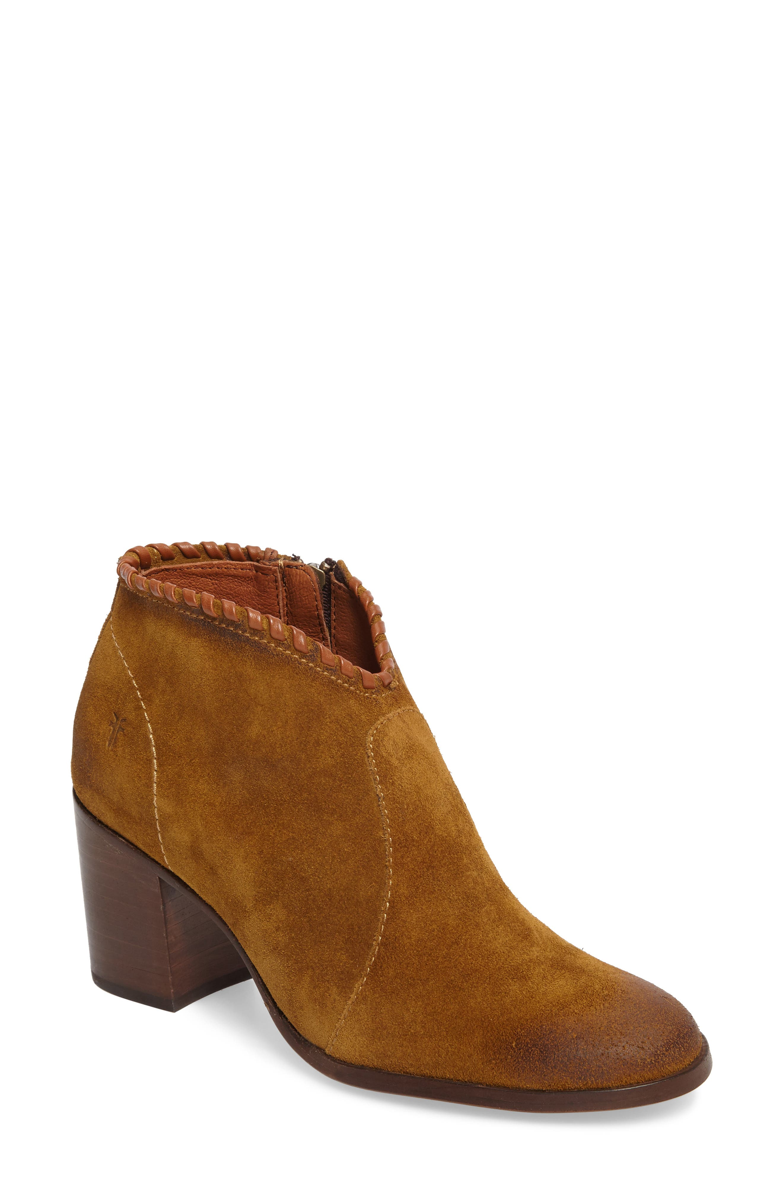 Nora Whipstitch Bootie,                         Main,                         color, Wheat