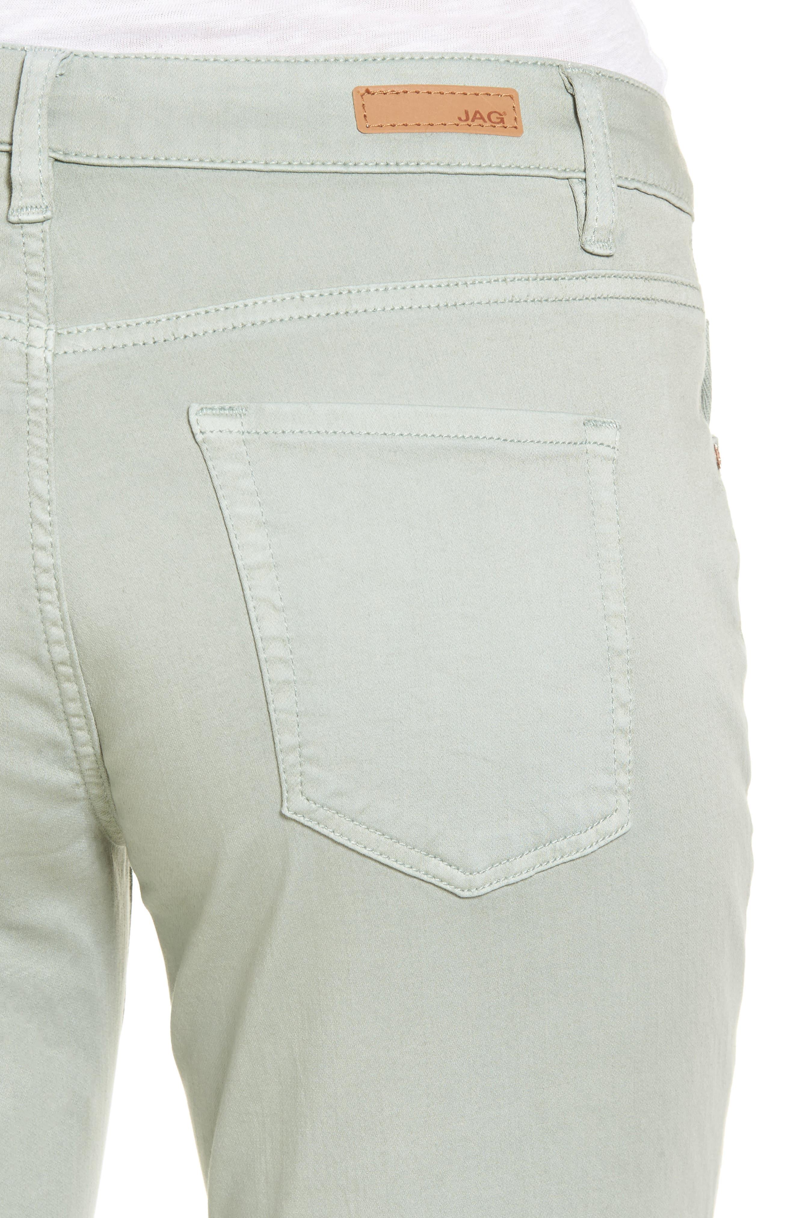 Carter Knit Denim Girlfriend Jeans,                             Alternate thumbnail 4, color,                             Beach Glass