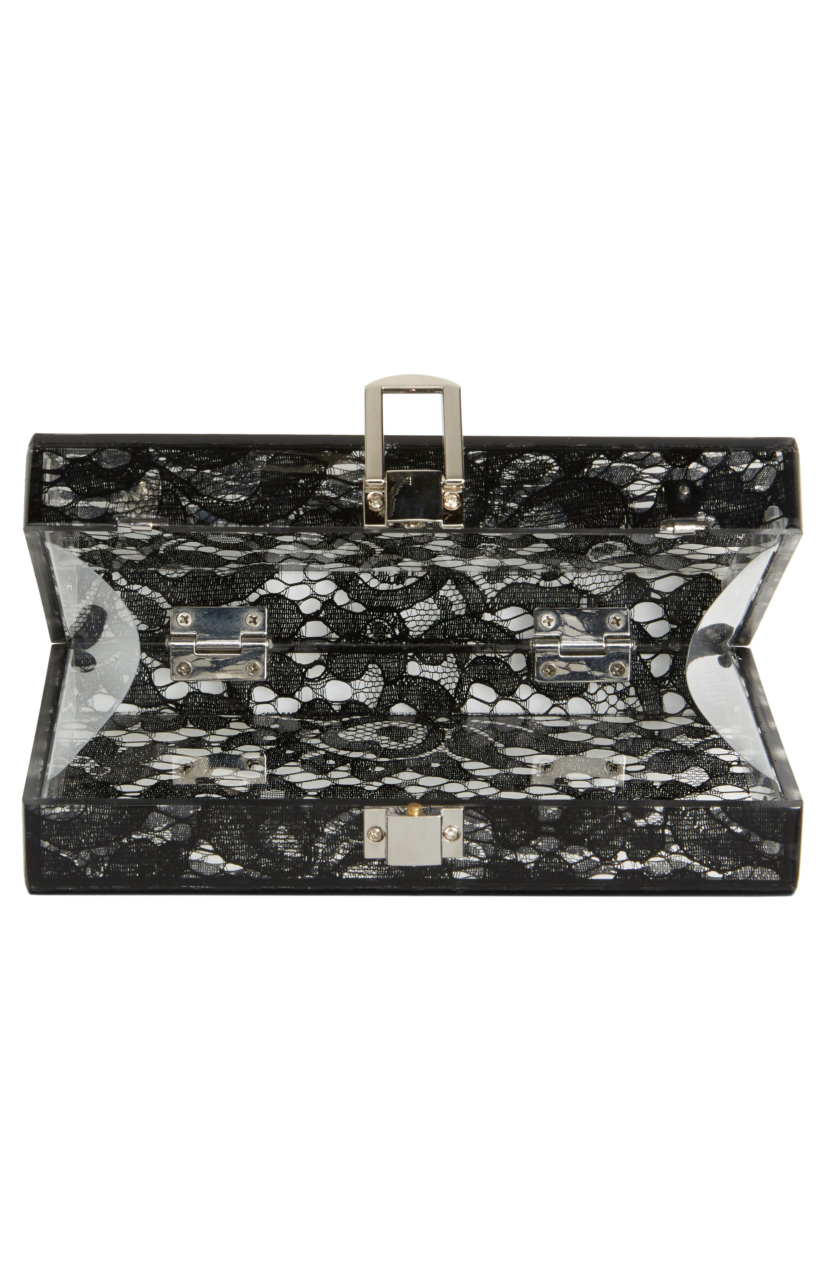 Alternate Image 3  - Nordstrom Transparent Lace Box Clutch