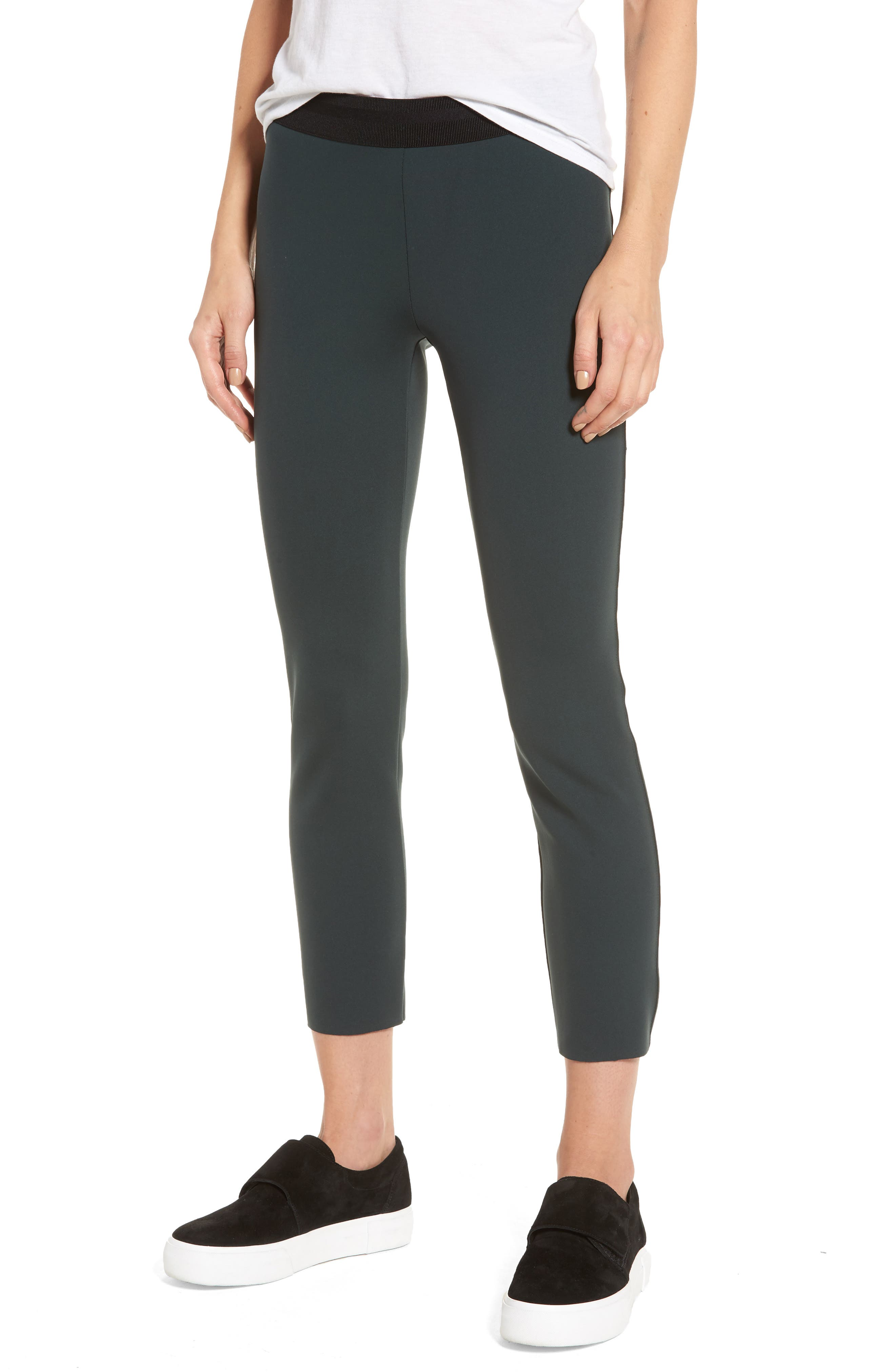 Crop Scuba Leggings,                         Main,                         color, Black Bamboo
