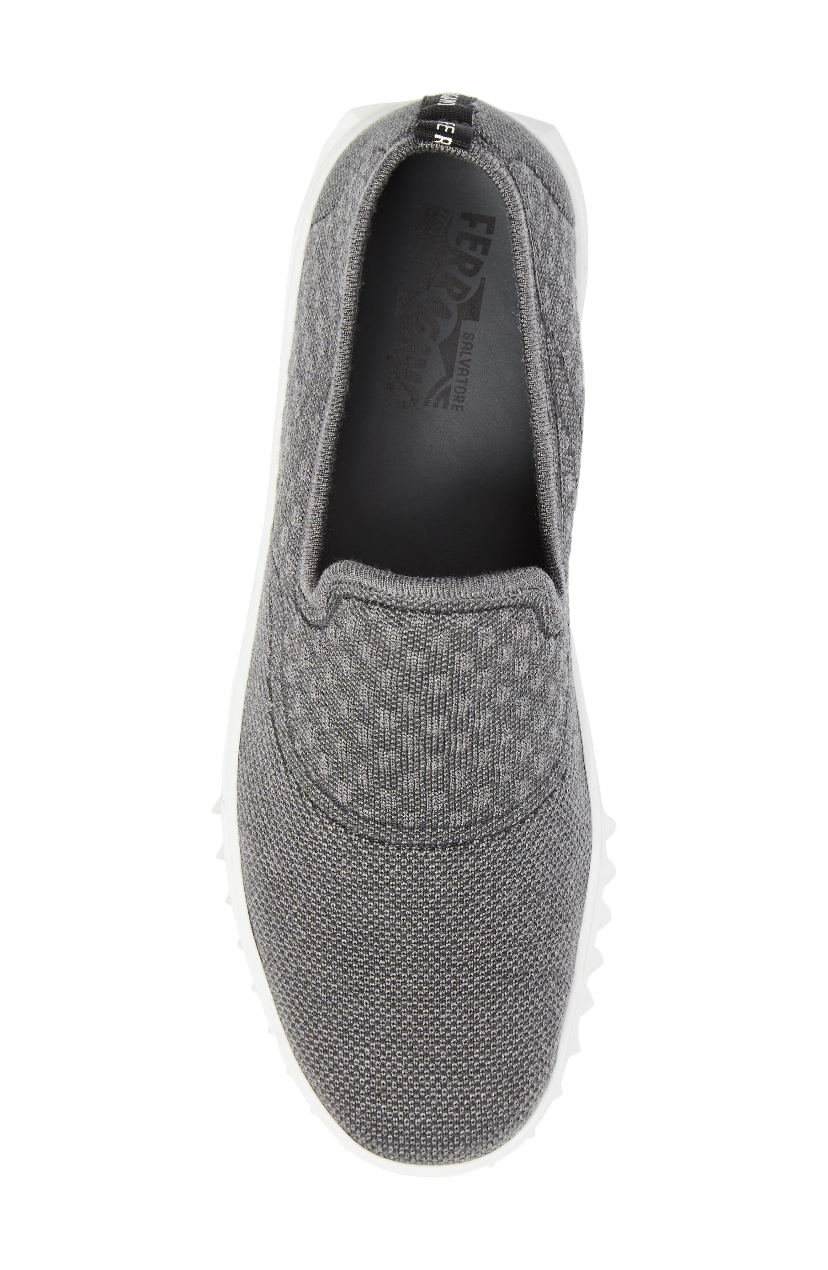 Clay Slip-On Sneaker,                             Alternate thumbnail 5, color,                             Charcoal