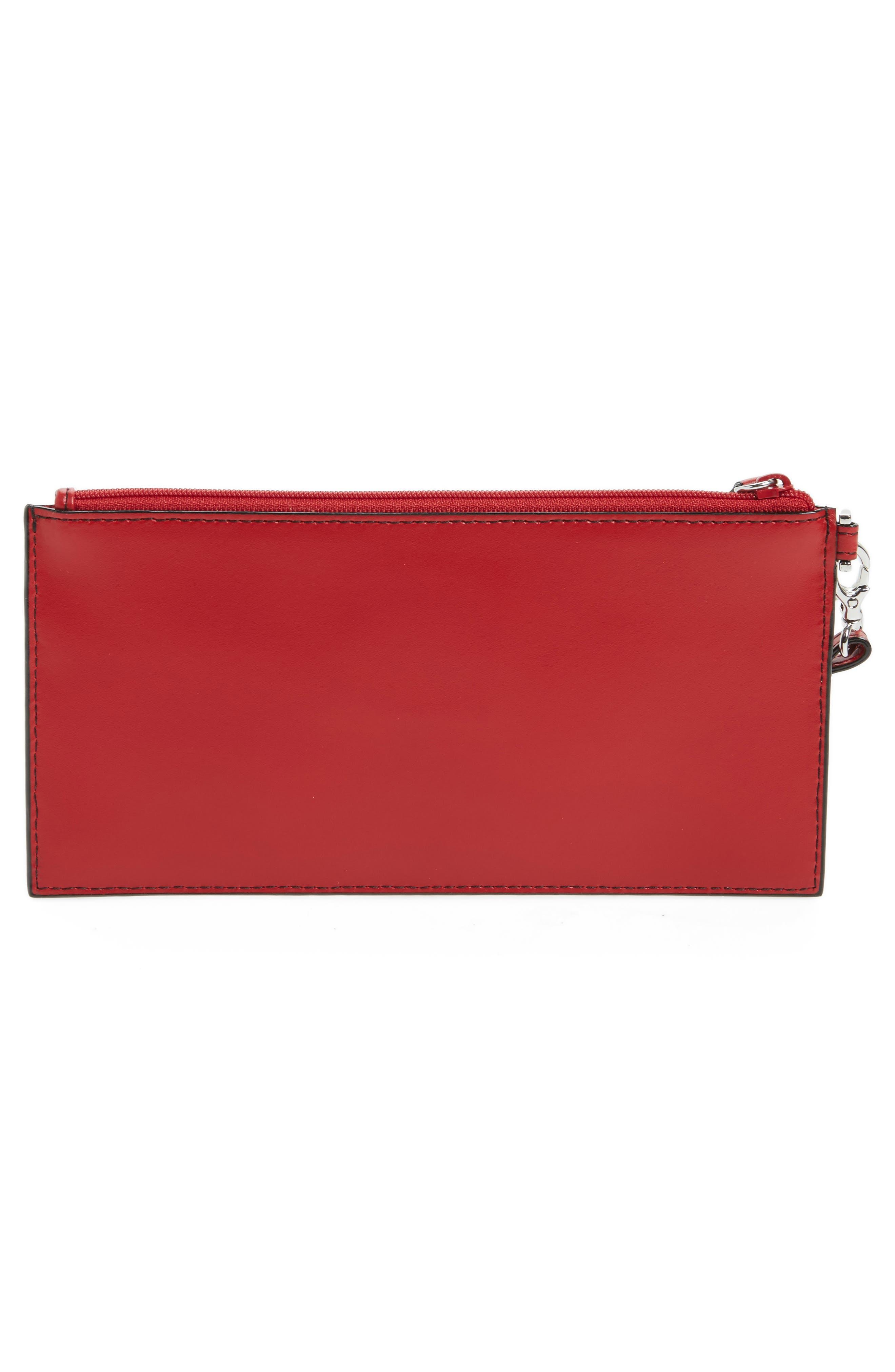 Audrey Under Lock & Key Queenie Wallet,                             Alternate thumbnail 4, color,                             Red