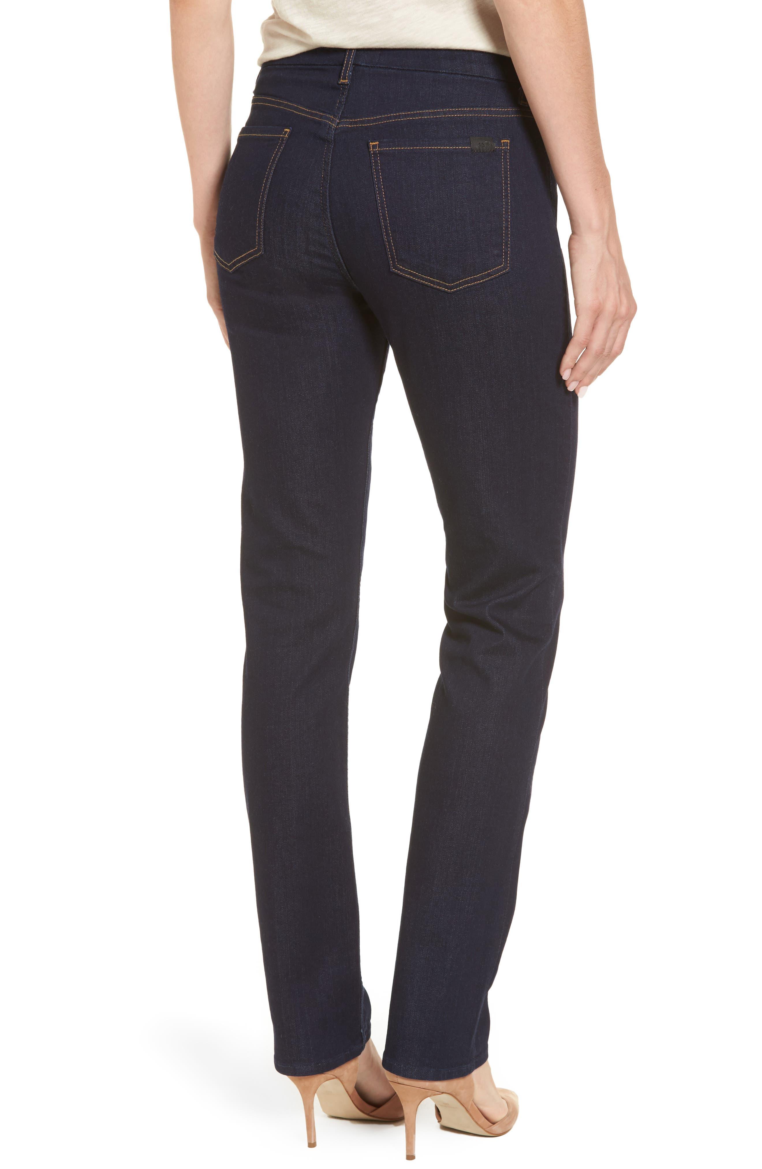 Alternate Image 2  - Jen7 Stretch Slim Straight Leg Jeans (Riche Touch Estancia Blue)
