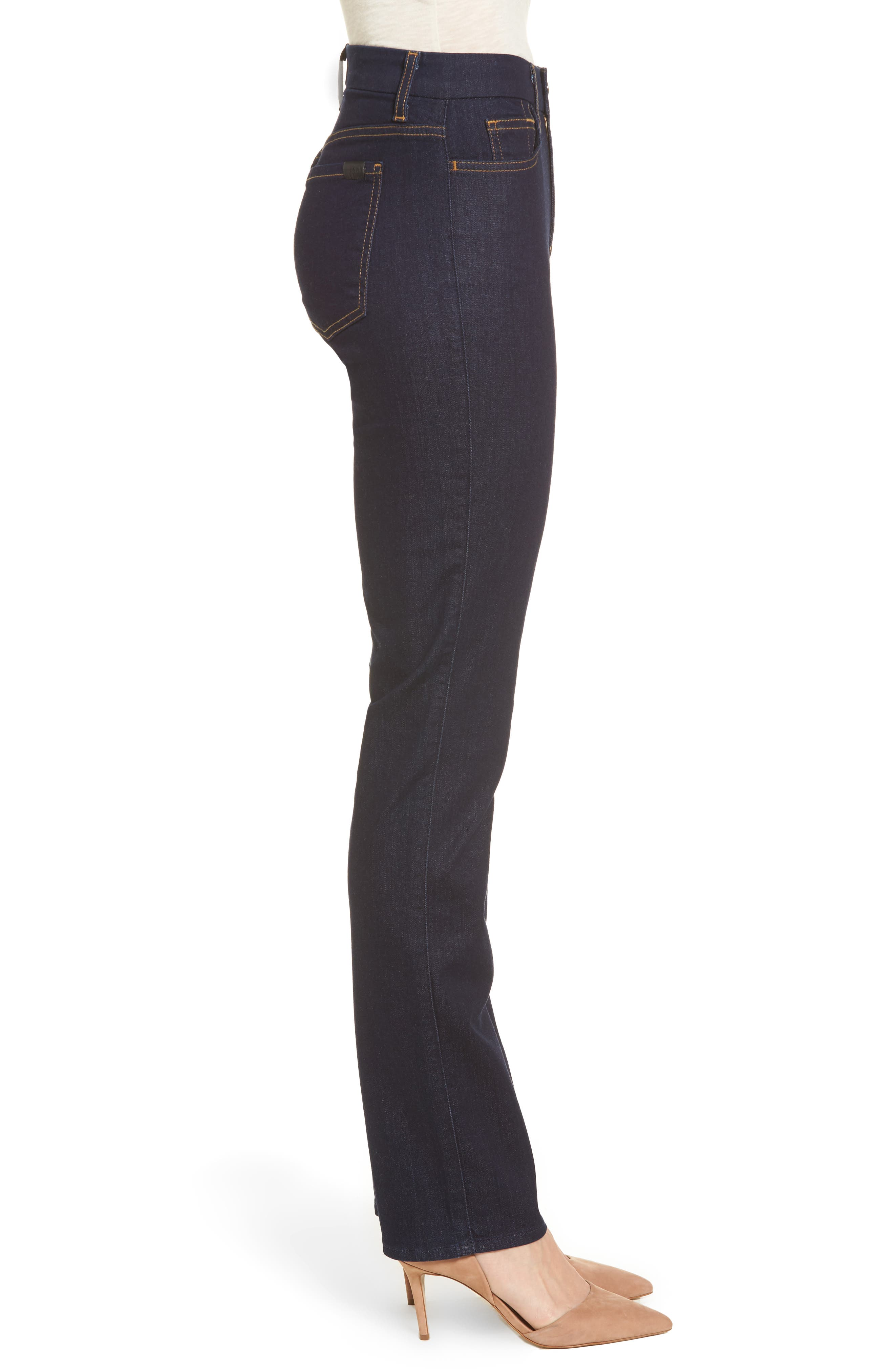 Alternate Image 3  - Jen7 Stretch Slim Straight Leg Jeans (Riche Touch Estancia Blue)
