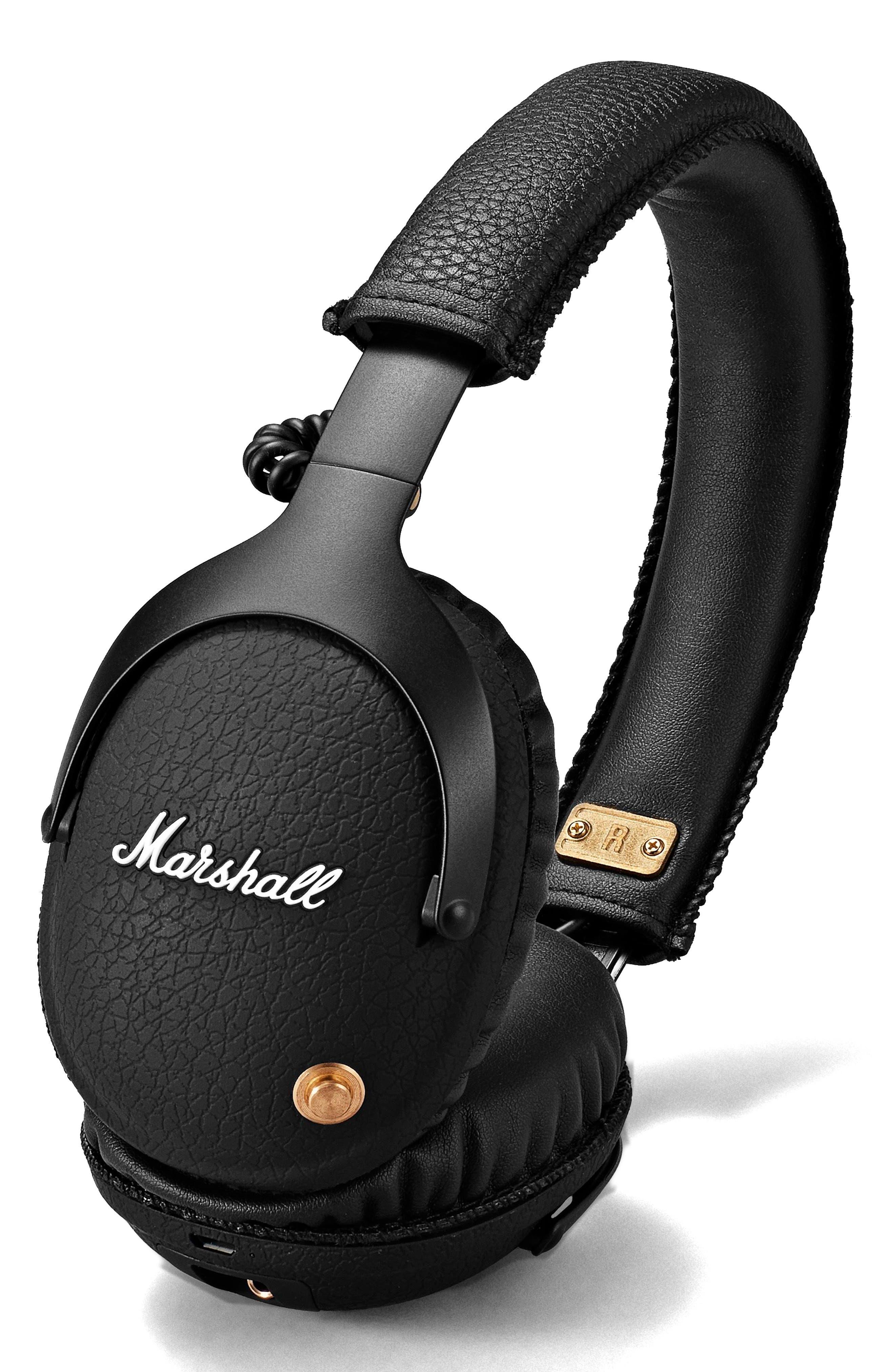 Monitor Bluetooth Wireless Over Ear Headphones,                         Main,                         color, Black
