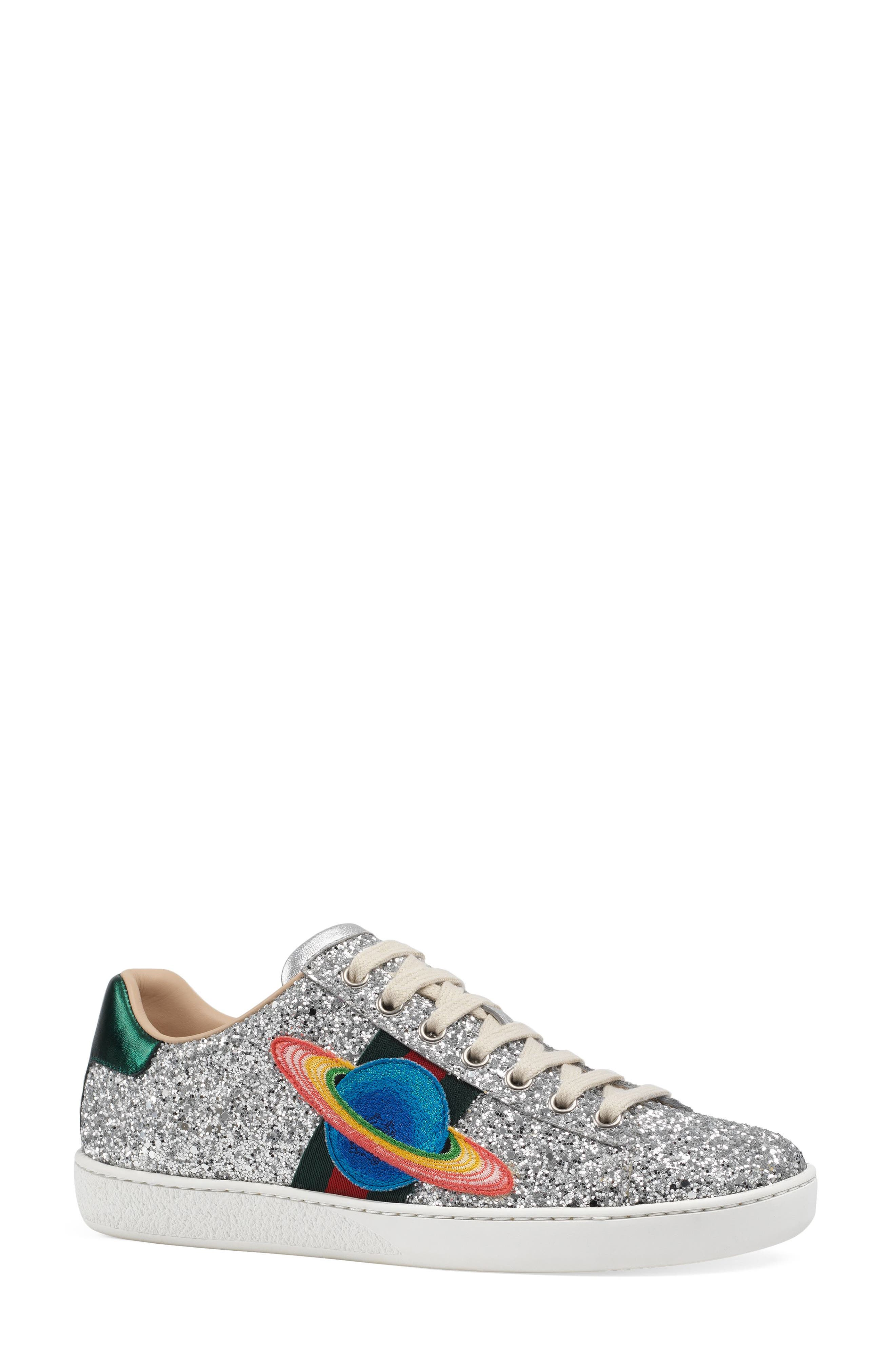 Alternate Image 1 Selected - Gucci 'New Ace' Low Top Sneaker (Women)