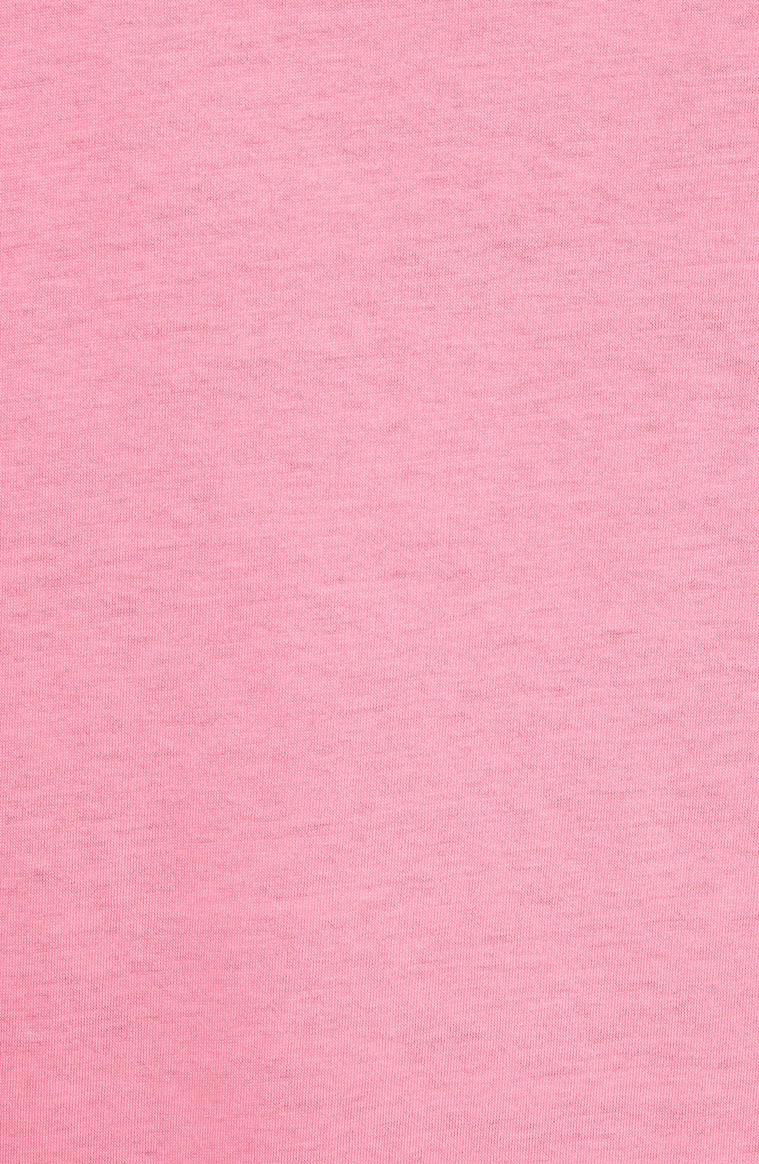 Pink Is Punk Cotton Tee,                             Alternate thumbnail 5, color,                             Pink